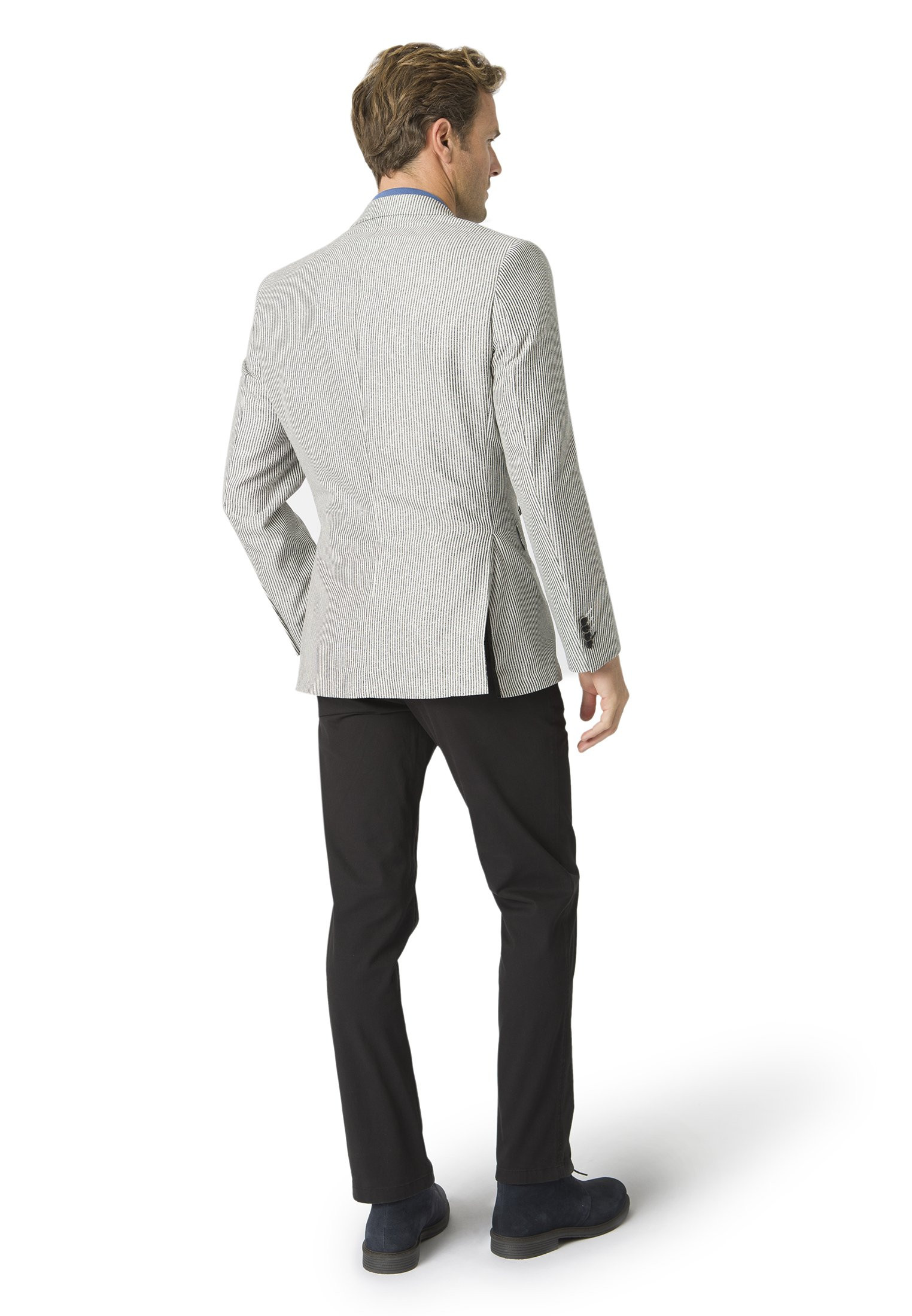 Chandler Tailored Fit Charcoal Stripe Jacket