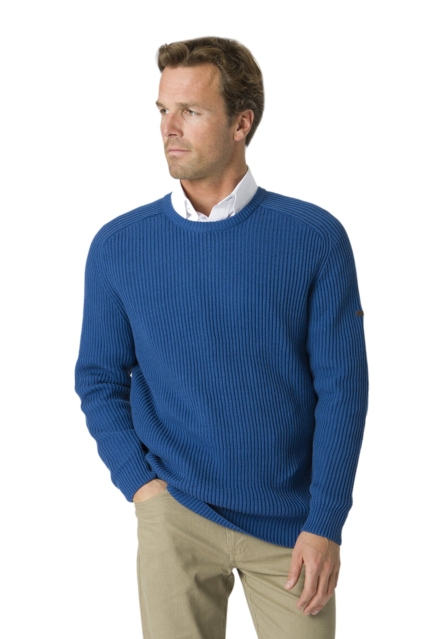 Clyston Ocean Ribbed Crew Neck