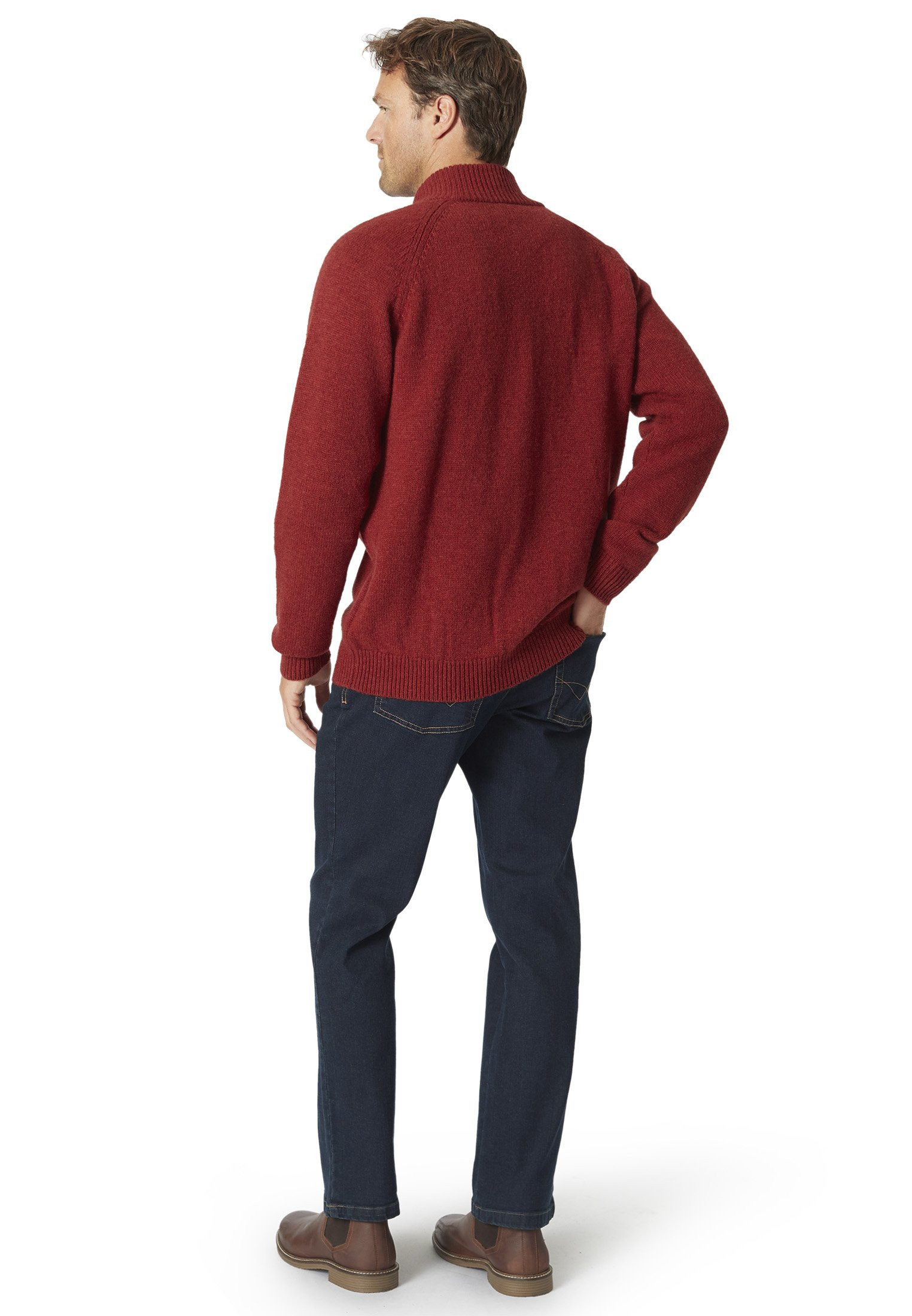 Dartmouth Berry Cable Knit Cardigan