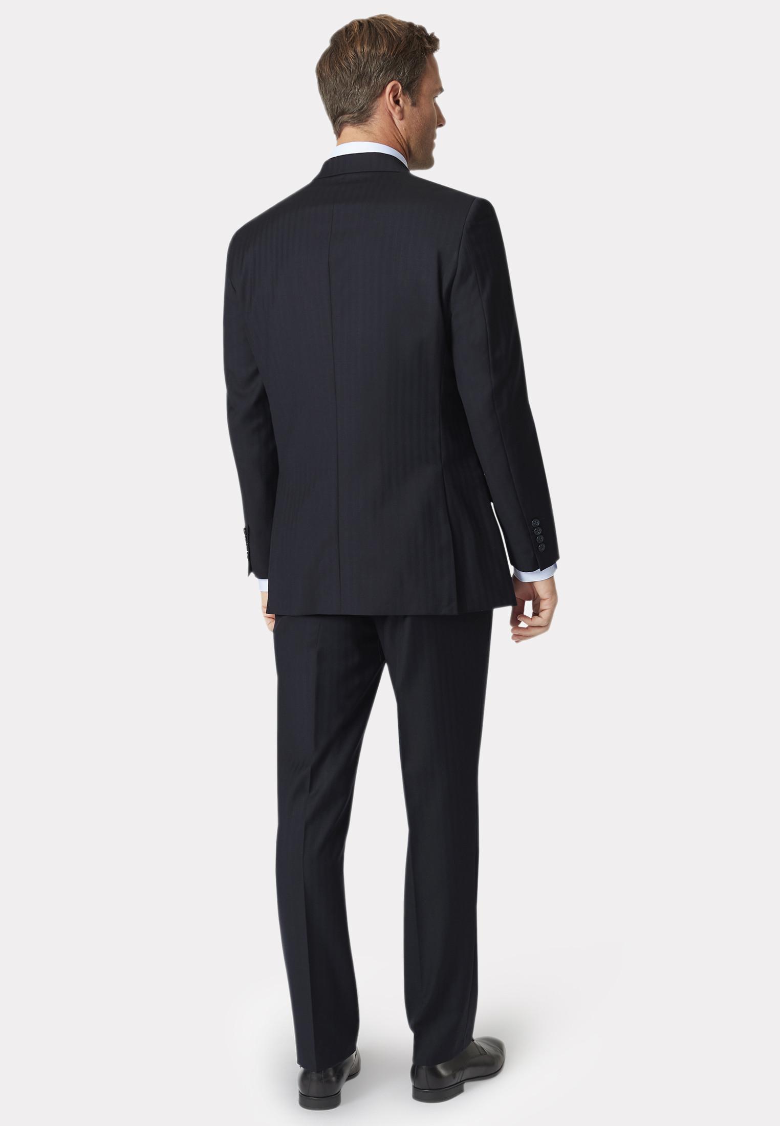 Dawlish Navy Herringbone Super 110's Suit