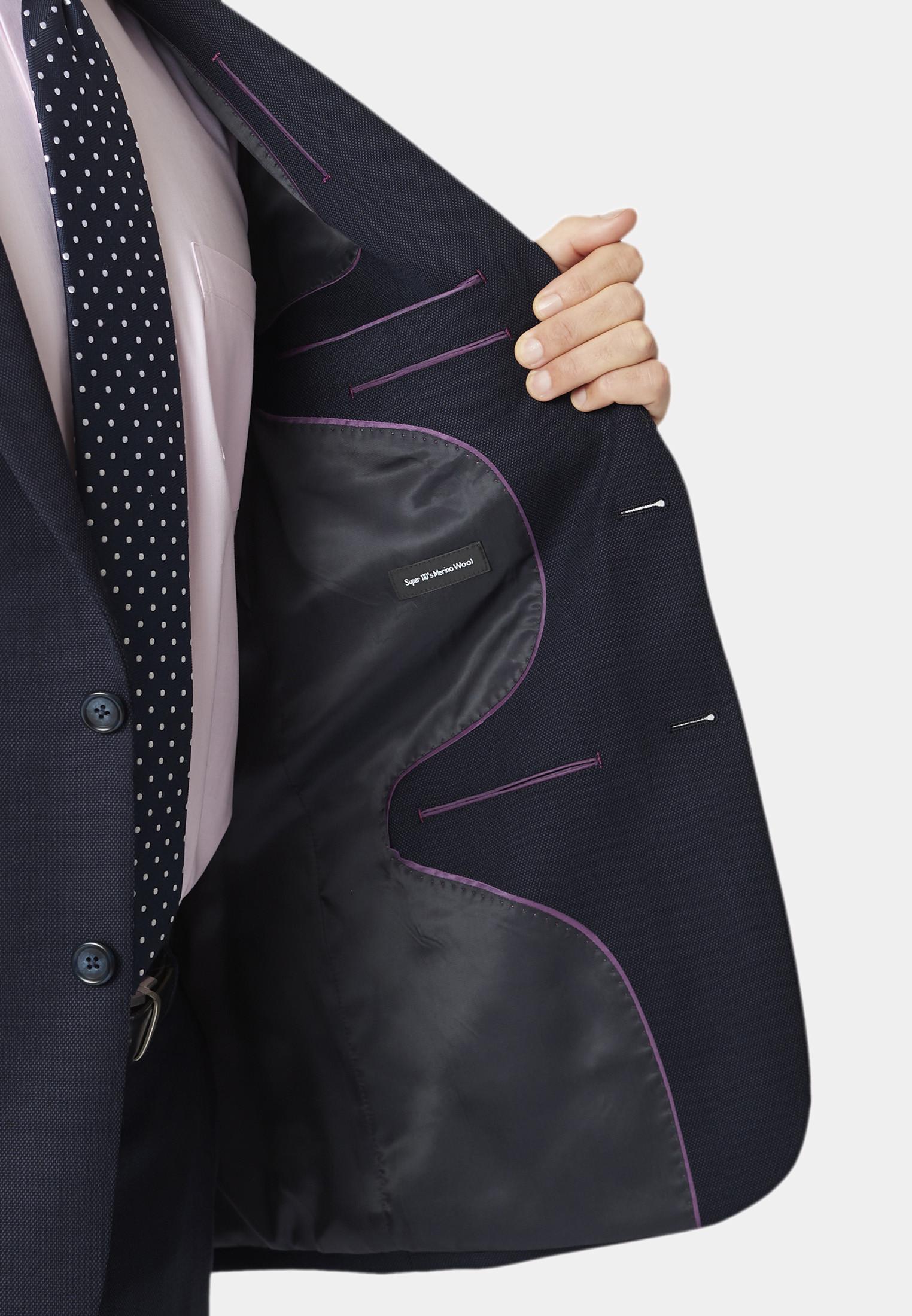 Dawlish Navy Birdseye Suit Jacket