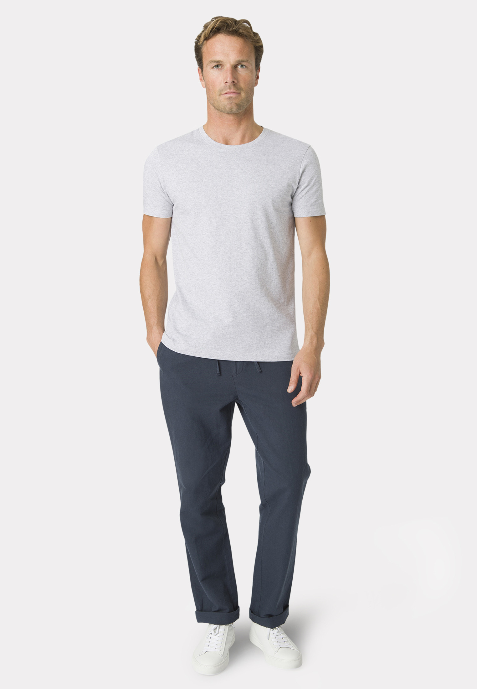 Dean Light Grey Cotton T-Shirt