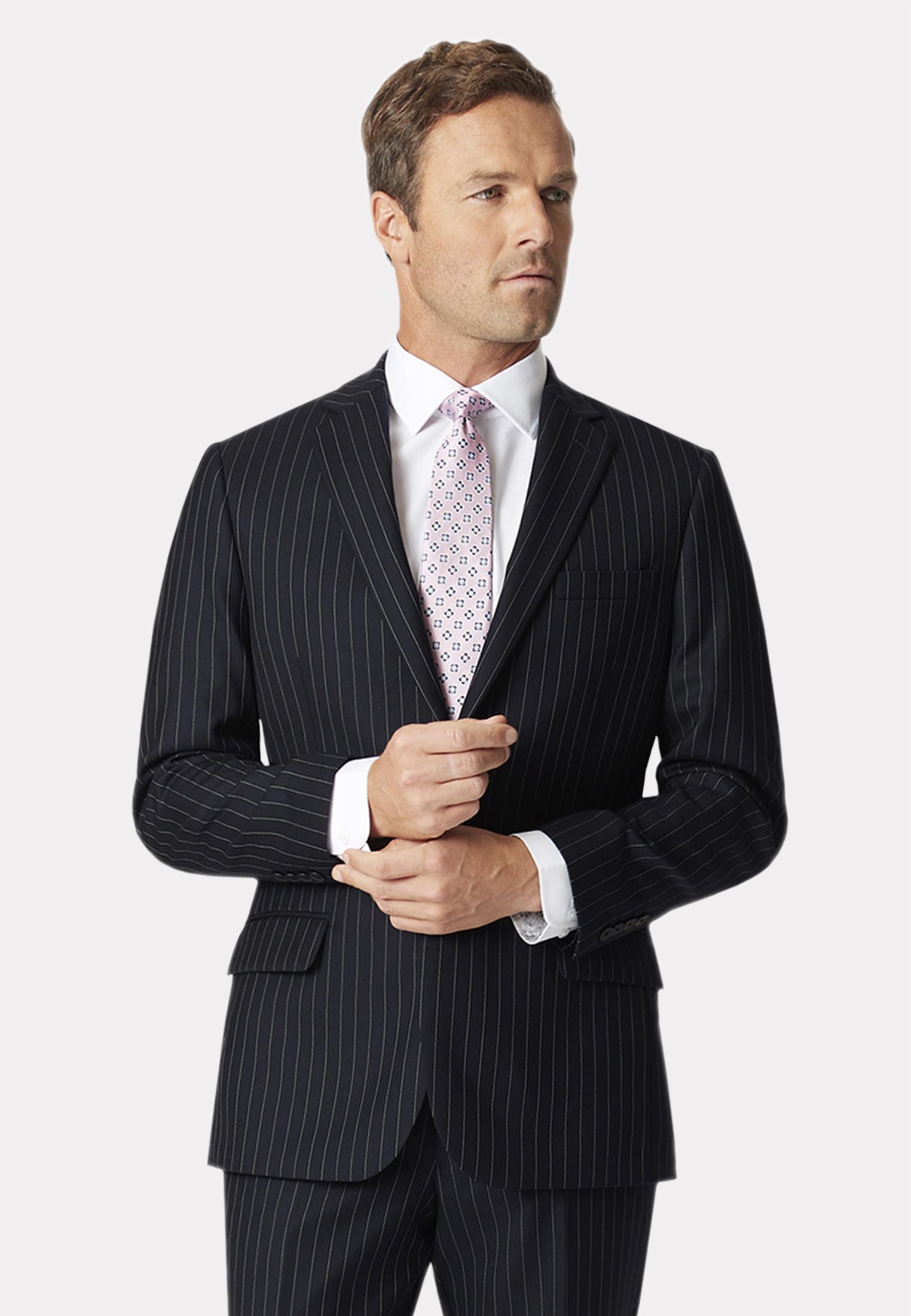 Epsom Navy Pinstripe Suit Jacket