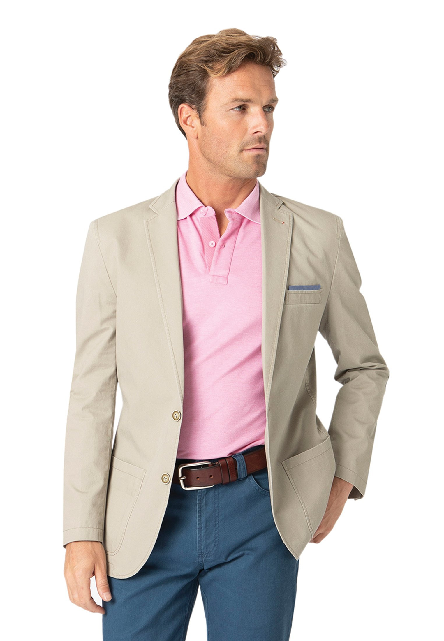 Chirk Stone Casual Semi-Structured Cotton Jacket