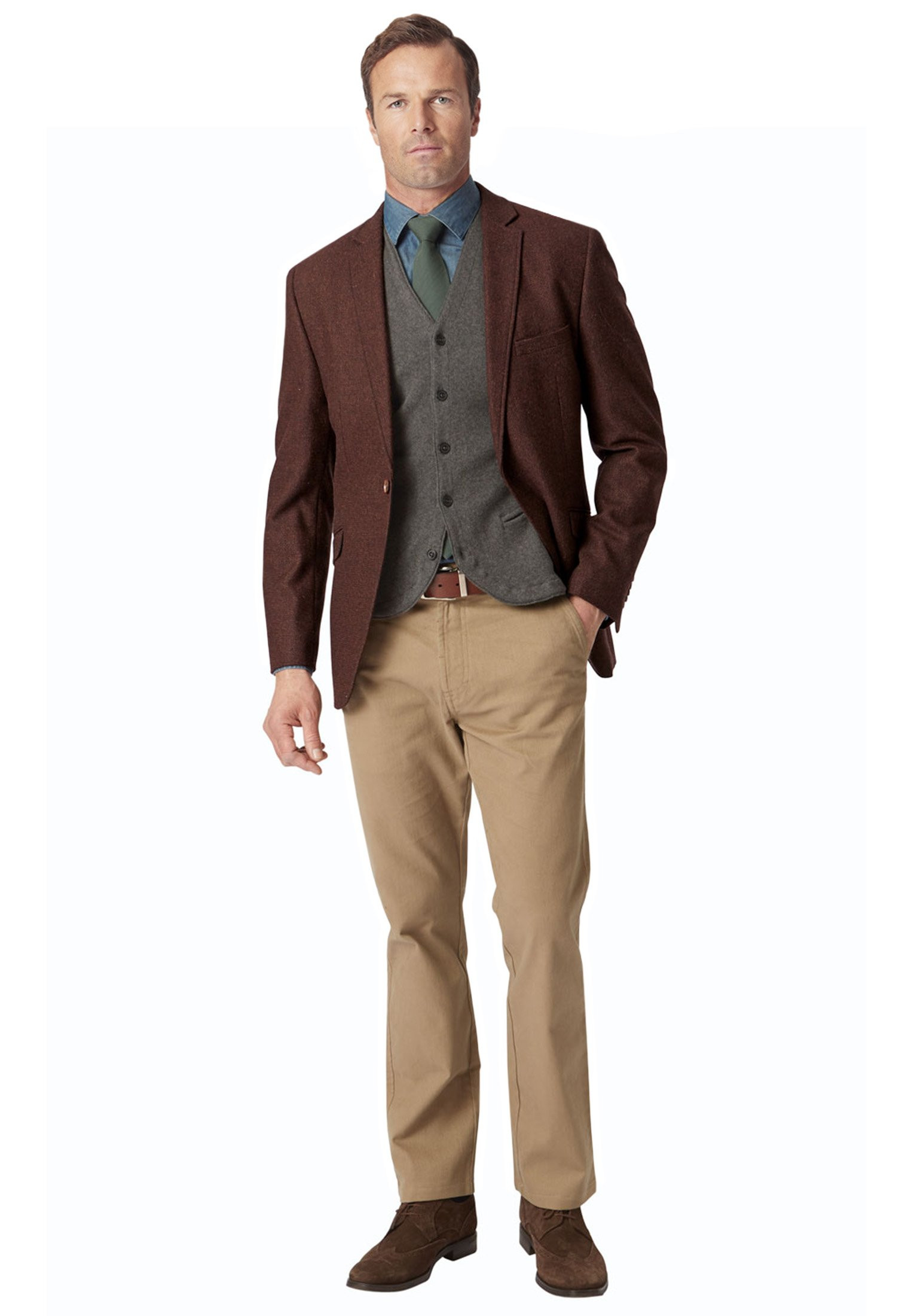 Fiora Pure New Wool Fashion Fit Check Jacket