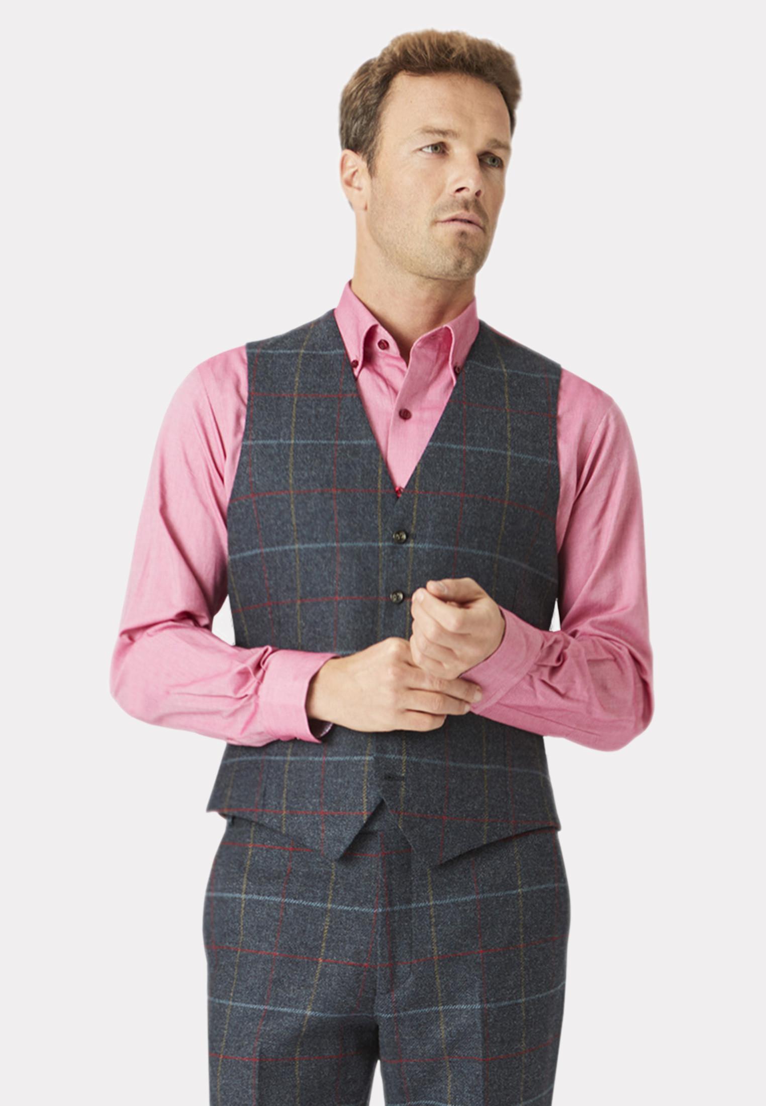 Haincliffe Tweed Three Piece Suit Waistcoat