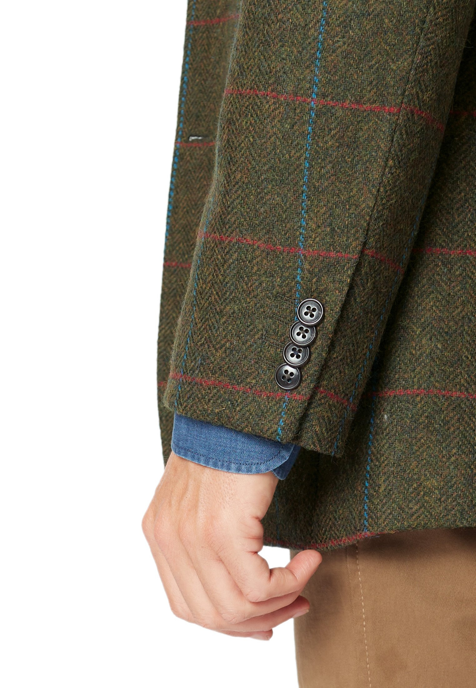 Hitchcock Olive Check Jacket