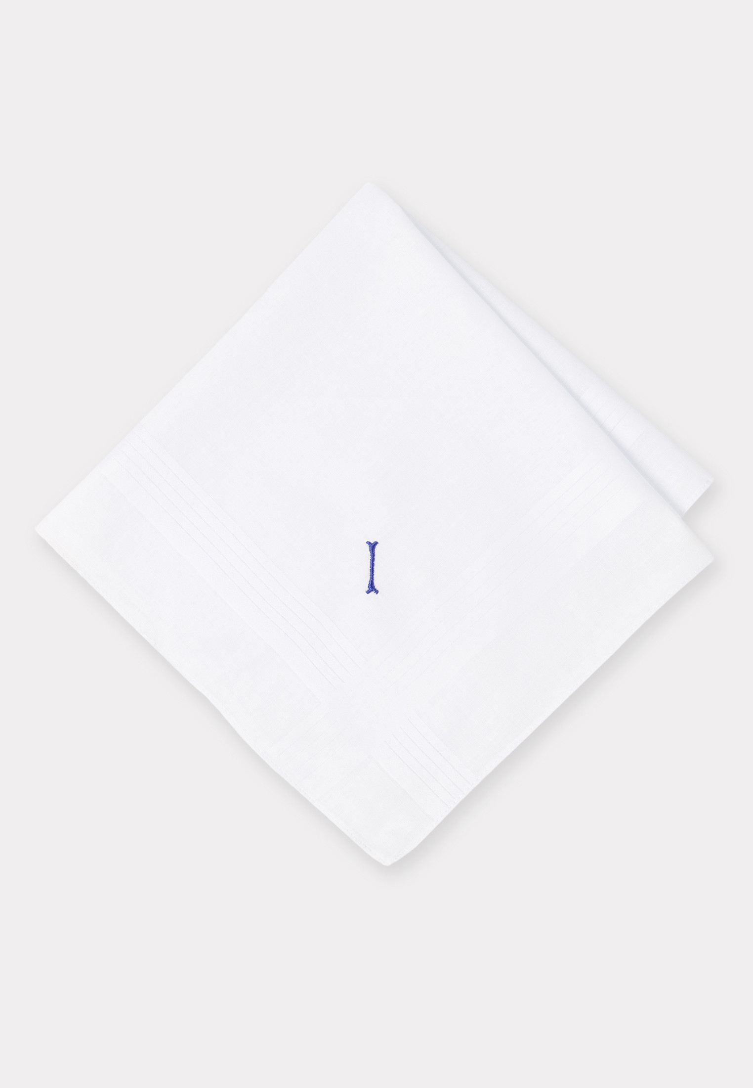 Handkerchief Monogrammed with Initial 'I' - Presentation Pack of 3