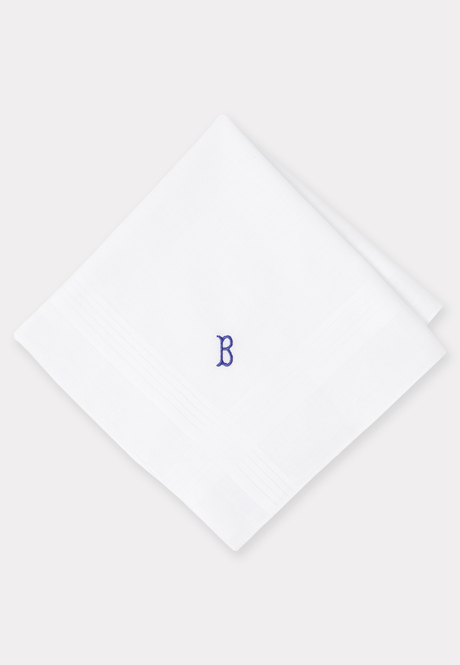 Handkerchief Monogrammed with Initial 'B' - Presentation Pack of 3