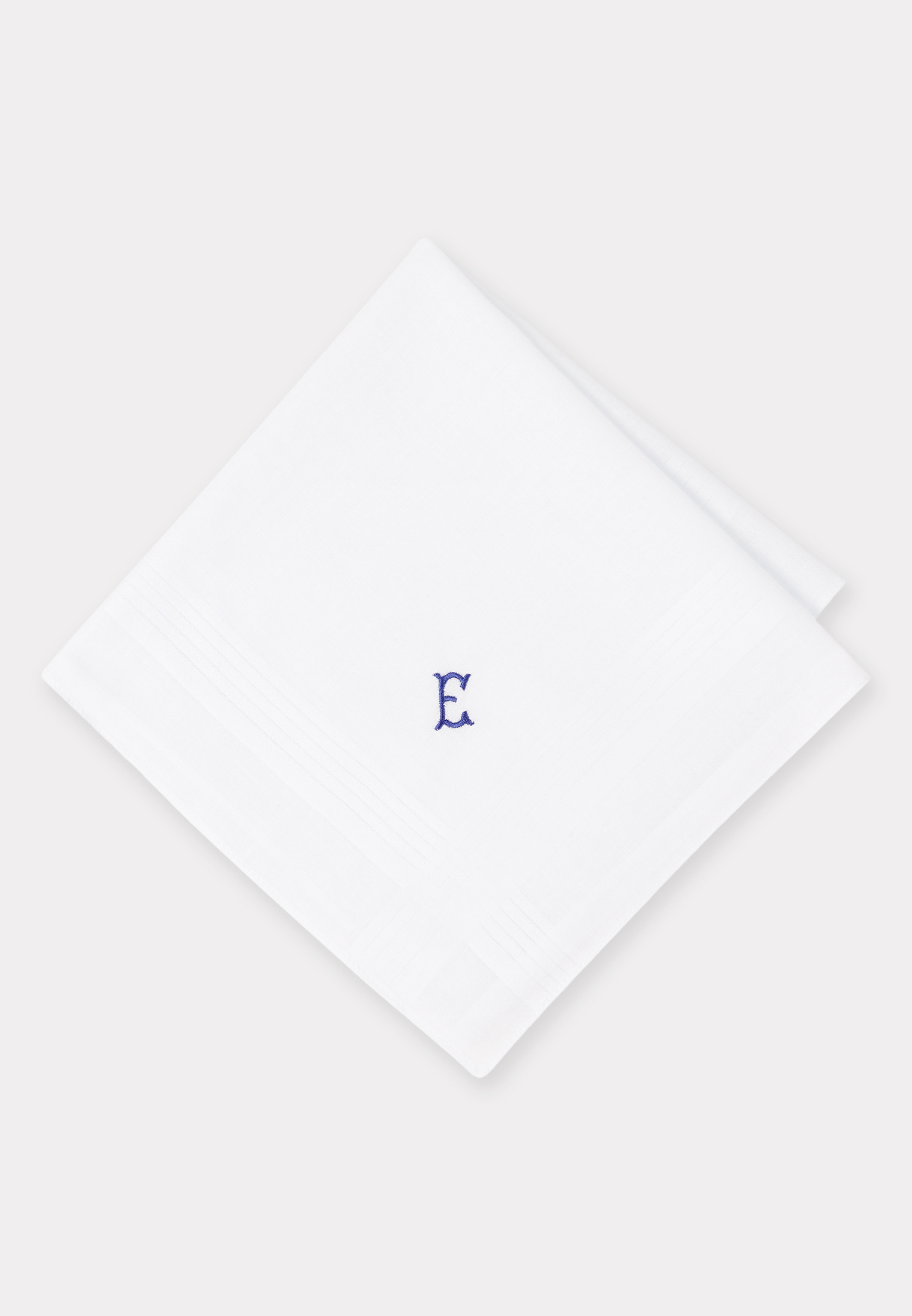 Handkerchief Monogrammed with Initial 'E' - Presentation Pack of 3