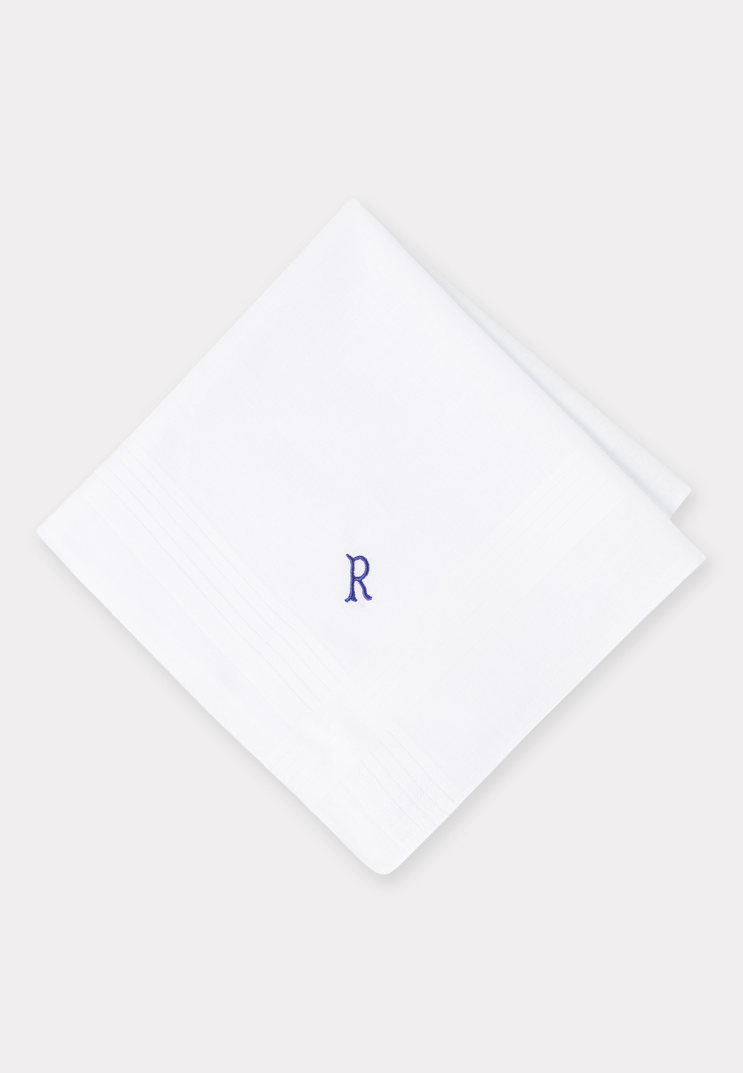 Handkerchief Monogrammed with Initial 'R' - Presentation Pack of 3