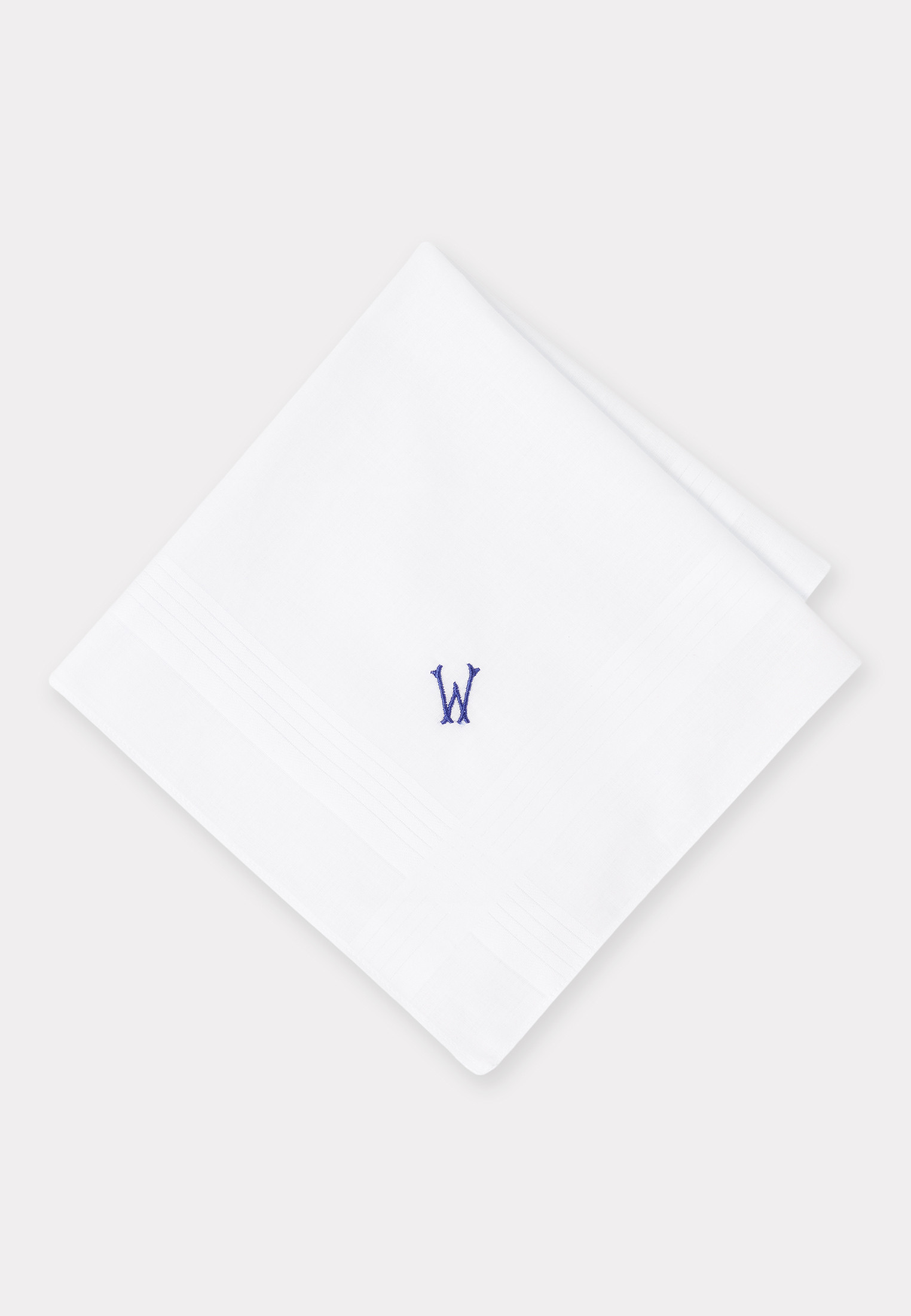 Handkerchief Monogrammed with Initial 'W' - Presentation Pack of 3