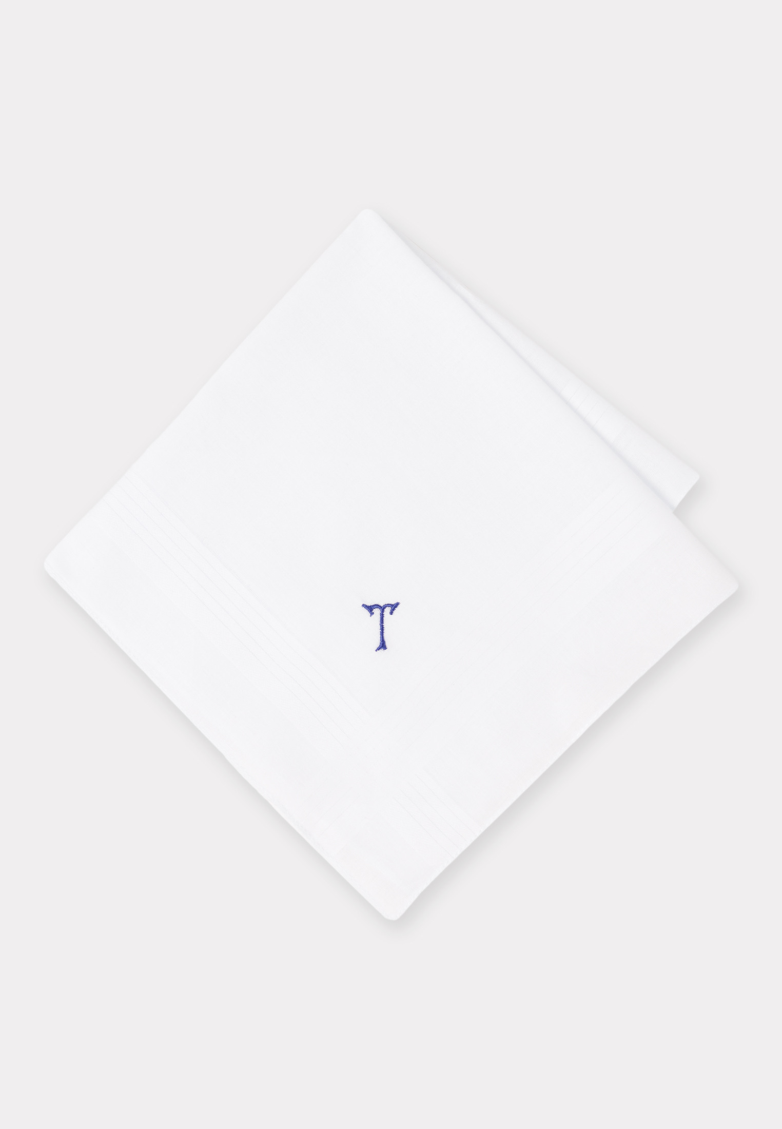 Handkerchief Monogrammed with Initial 'T' - Presentation Pack of 3