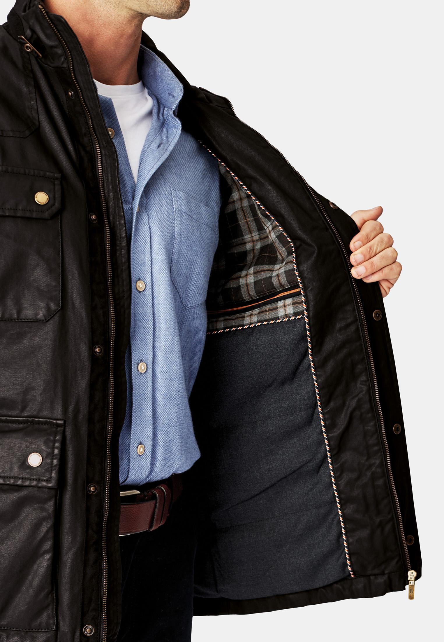 Japan Cotton Twill Carbon Finish Biker Jacket