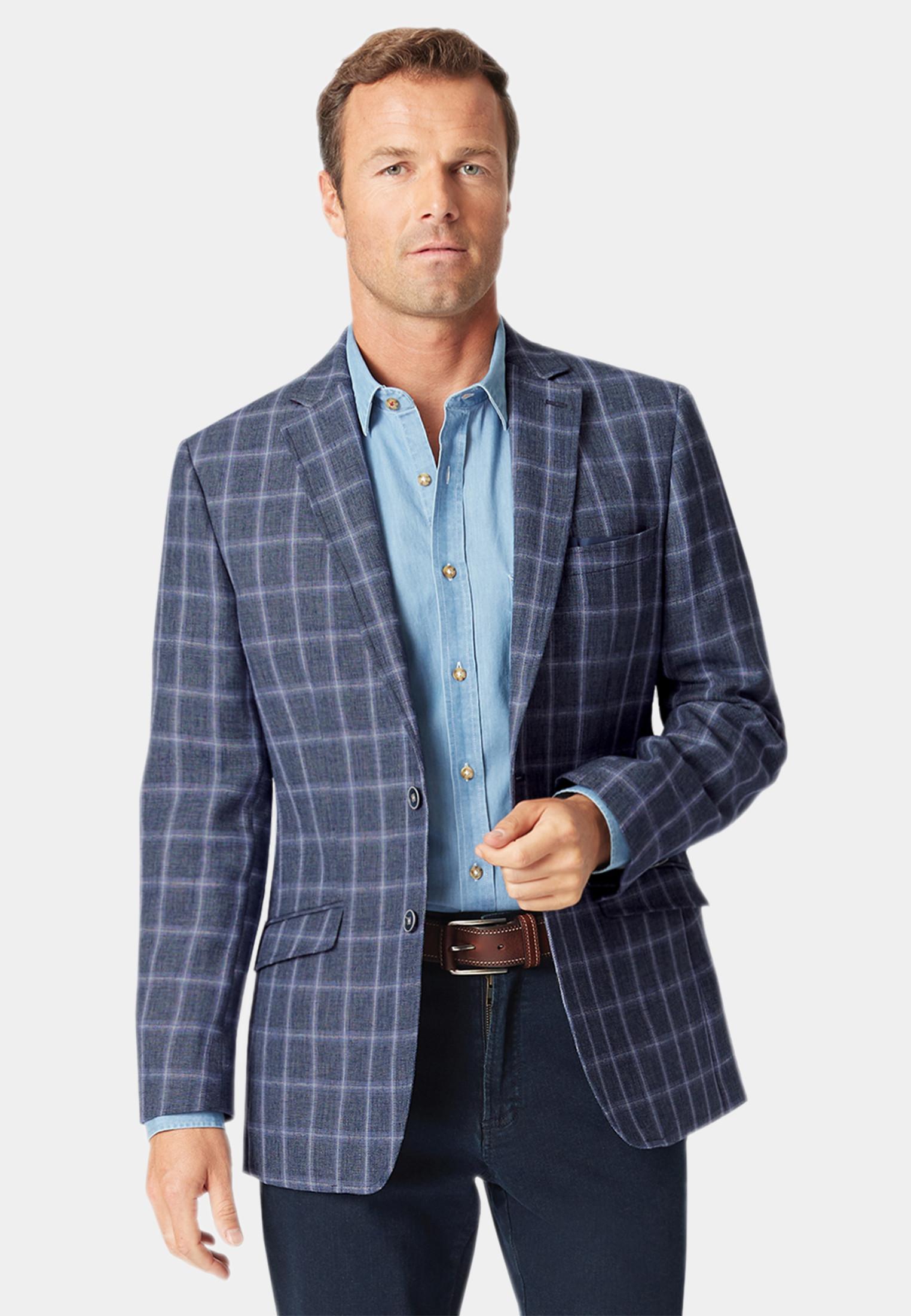 Leyburn Blue Check Jacket