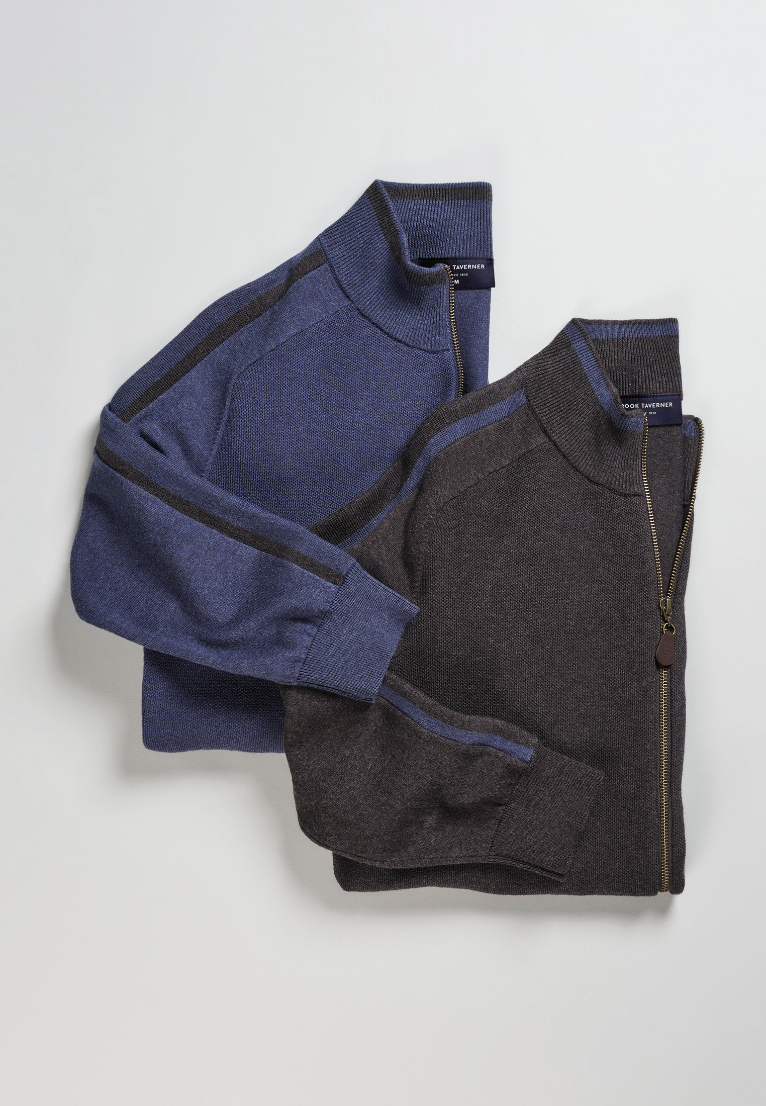Linton Charcoal 14 Gauge Zip Through Cardigan