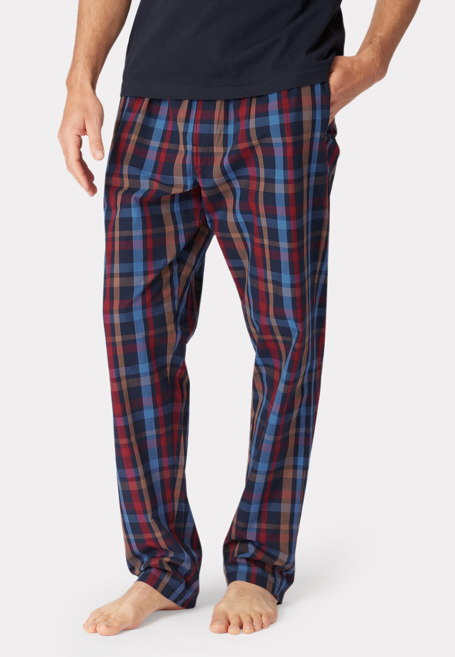 Malton Navy Multi Check Cotton Lounge Pants