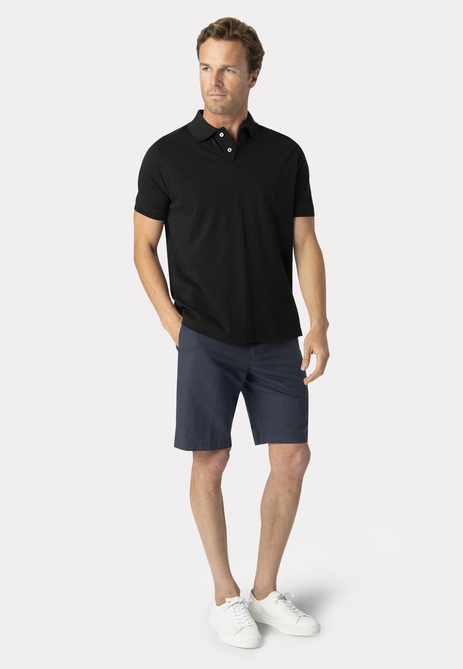 Milford Black 100% Pique Cotton Polo Shirt