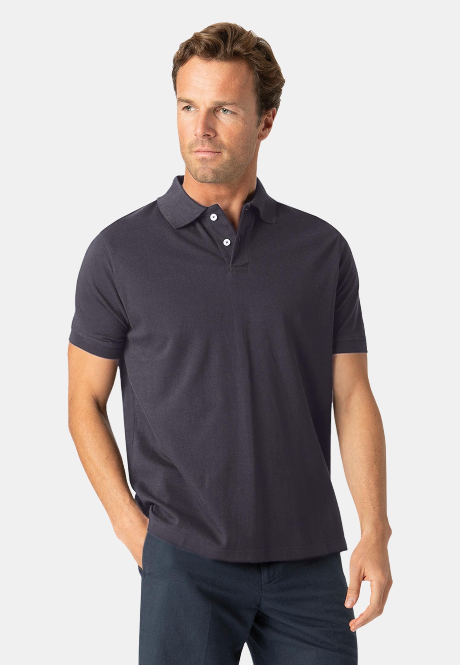 Milford Navy 100% Pique Cotton Polo Shirt
