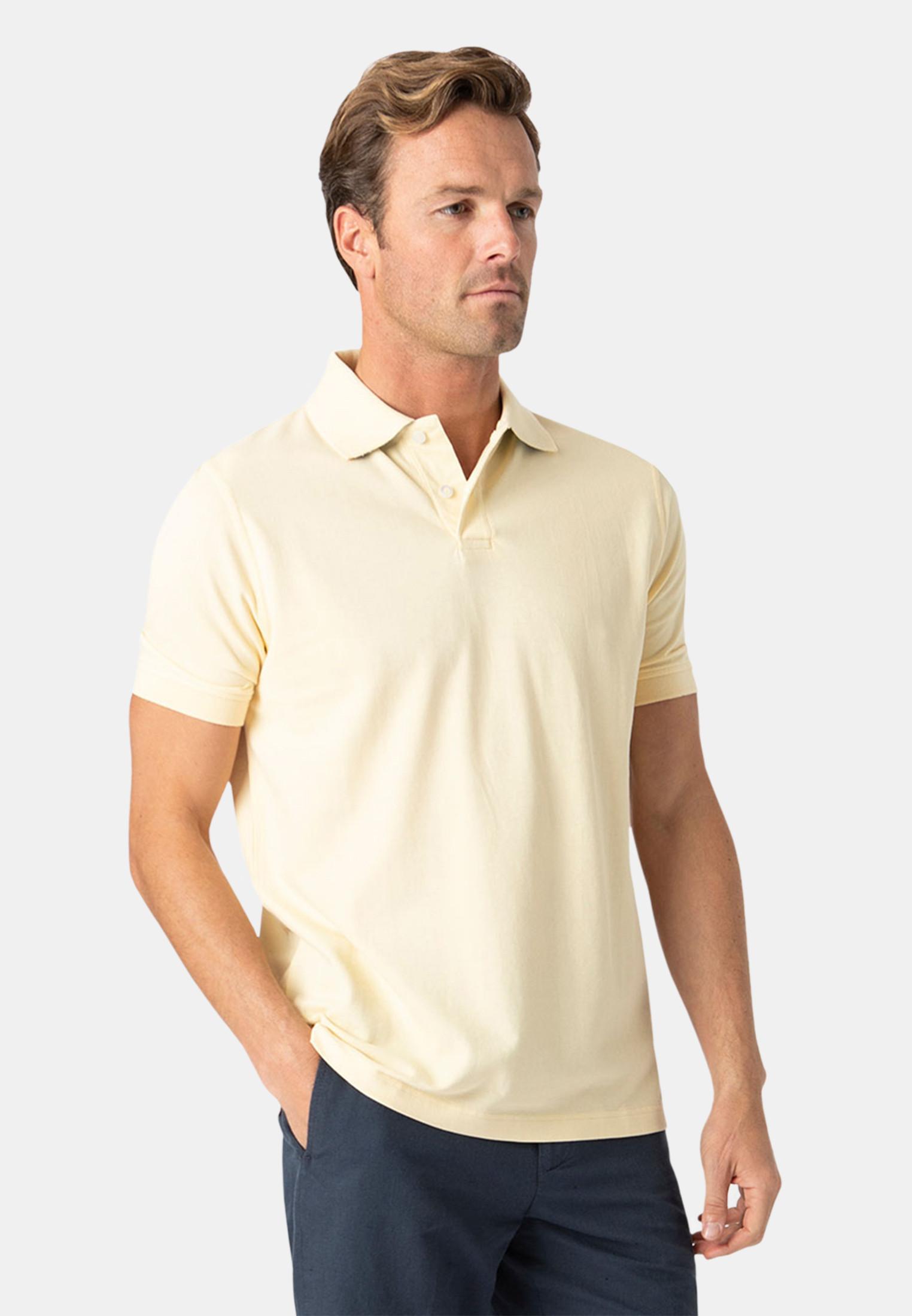 Milford Lemon 100% Pique Cotton Polo Shirt