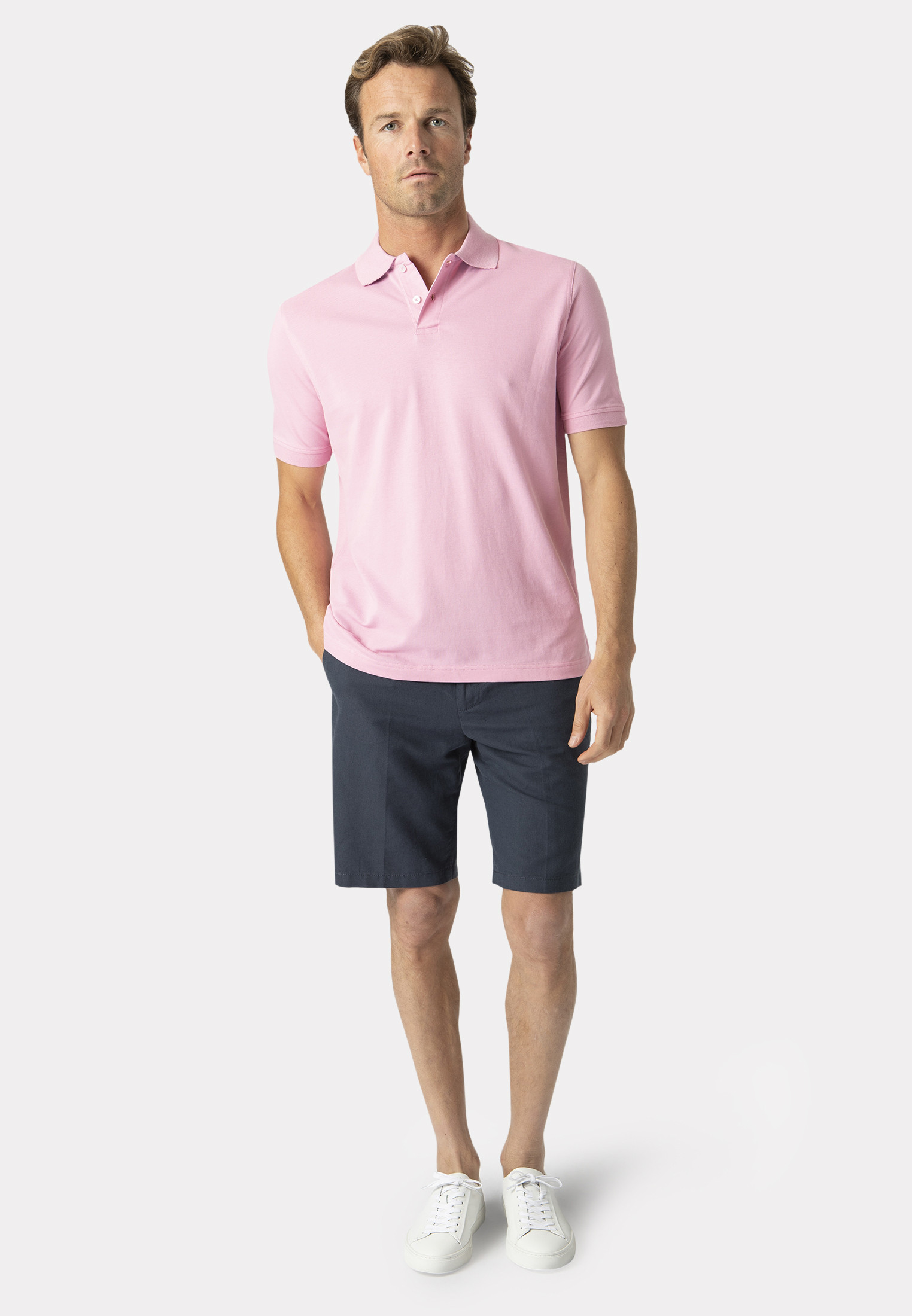 Milford Pink 100% Pique Cotton Polo Shirt