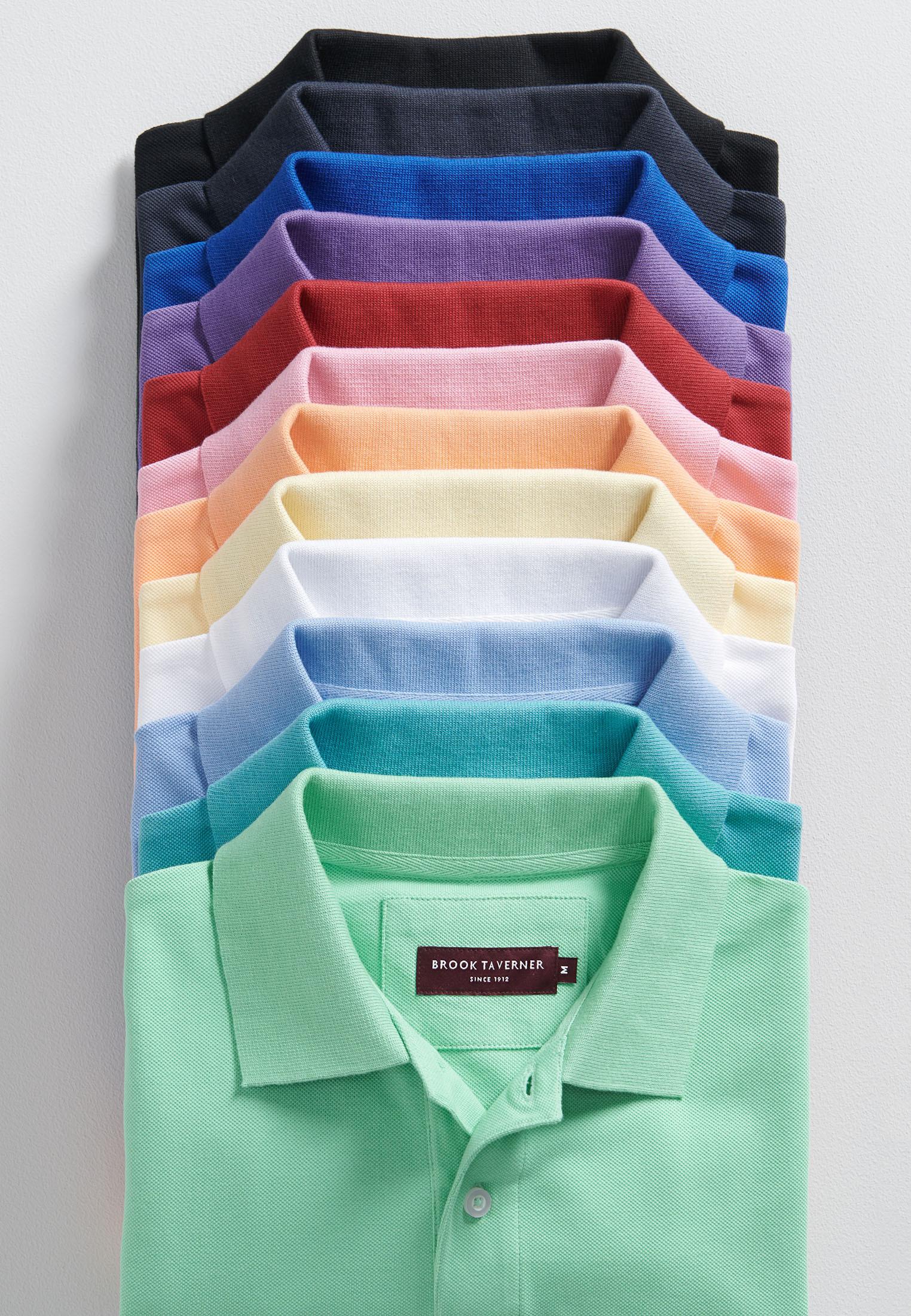 Milford White 100% Pique Cotton Polo Shirt