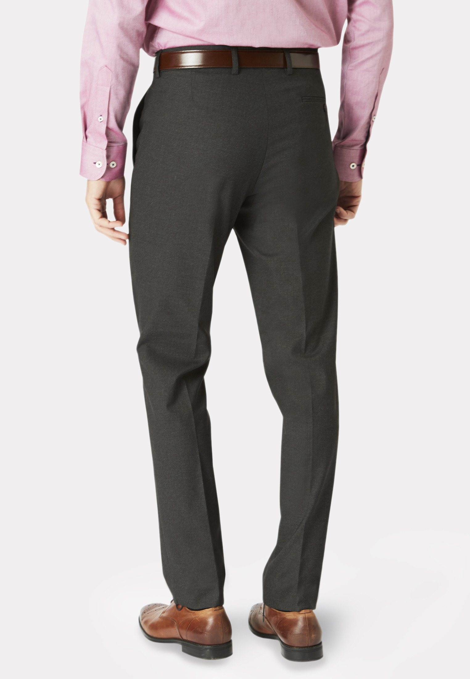 Dijon Charcoal Tailored Fit Three Piece Suit - Waistcoat Optional