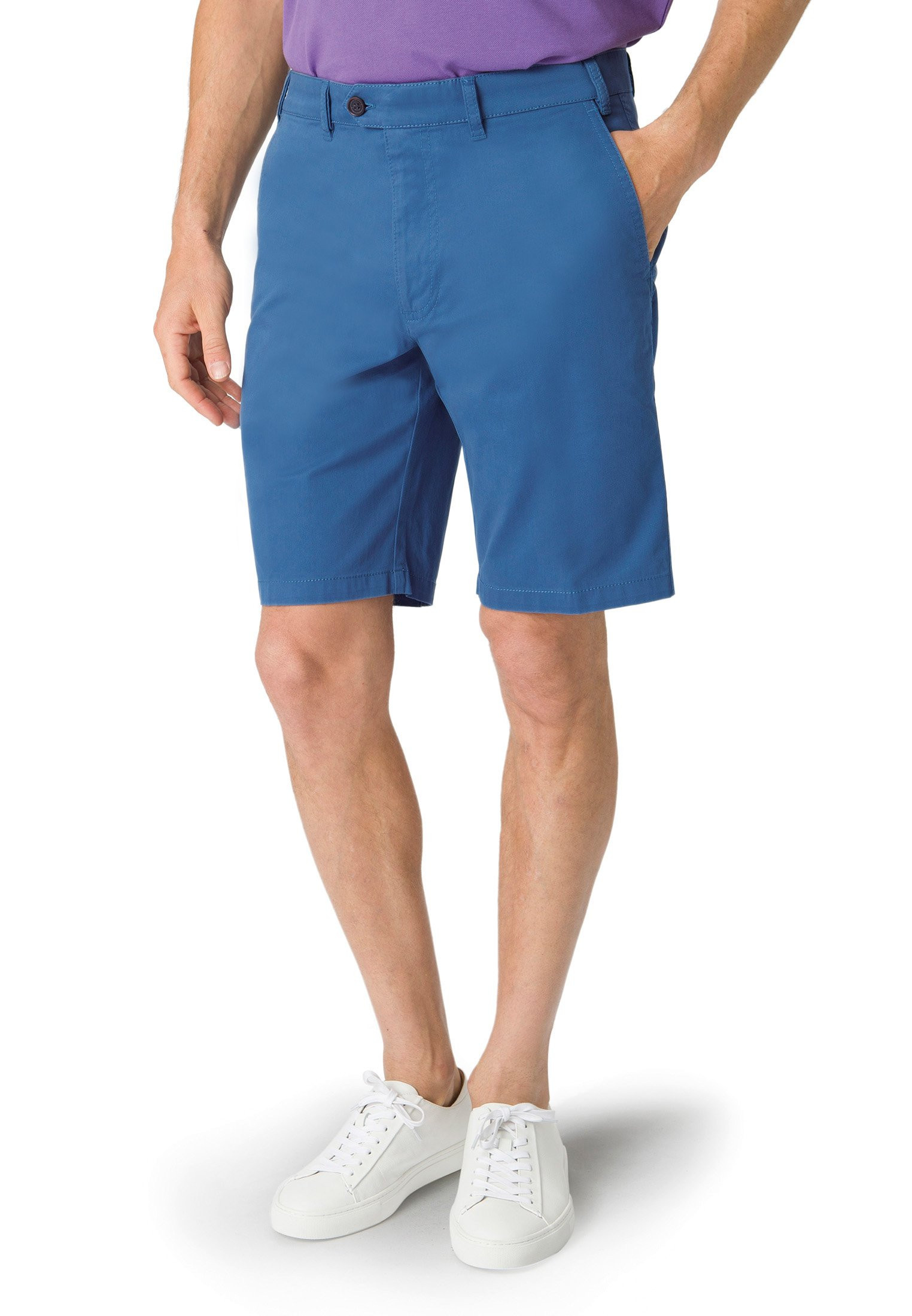 Ribblesdale Sky Blue Cotton Stretch Summer Shorts
