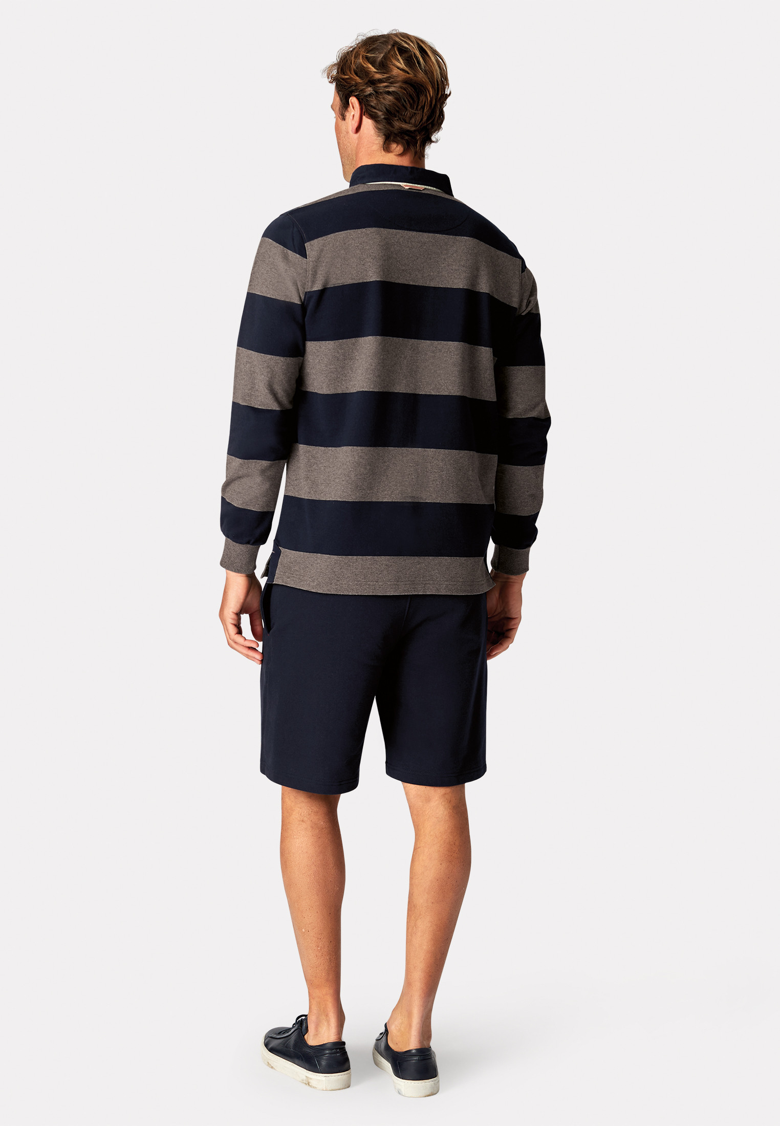 Richmond Navy and Charcoal Hoop Rugby Shirt