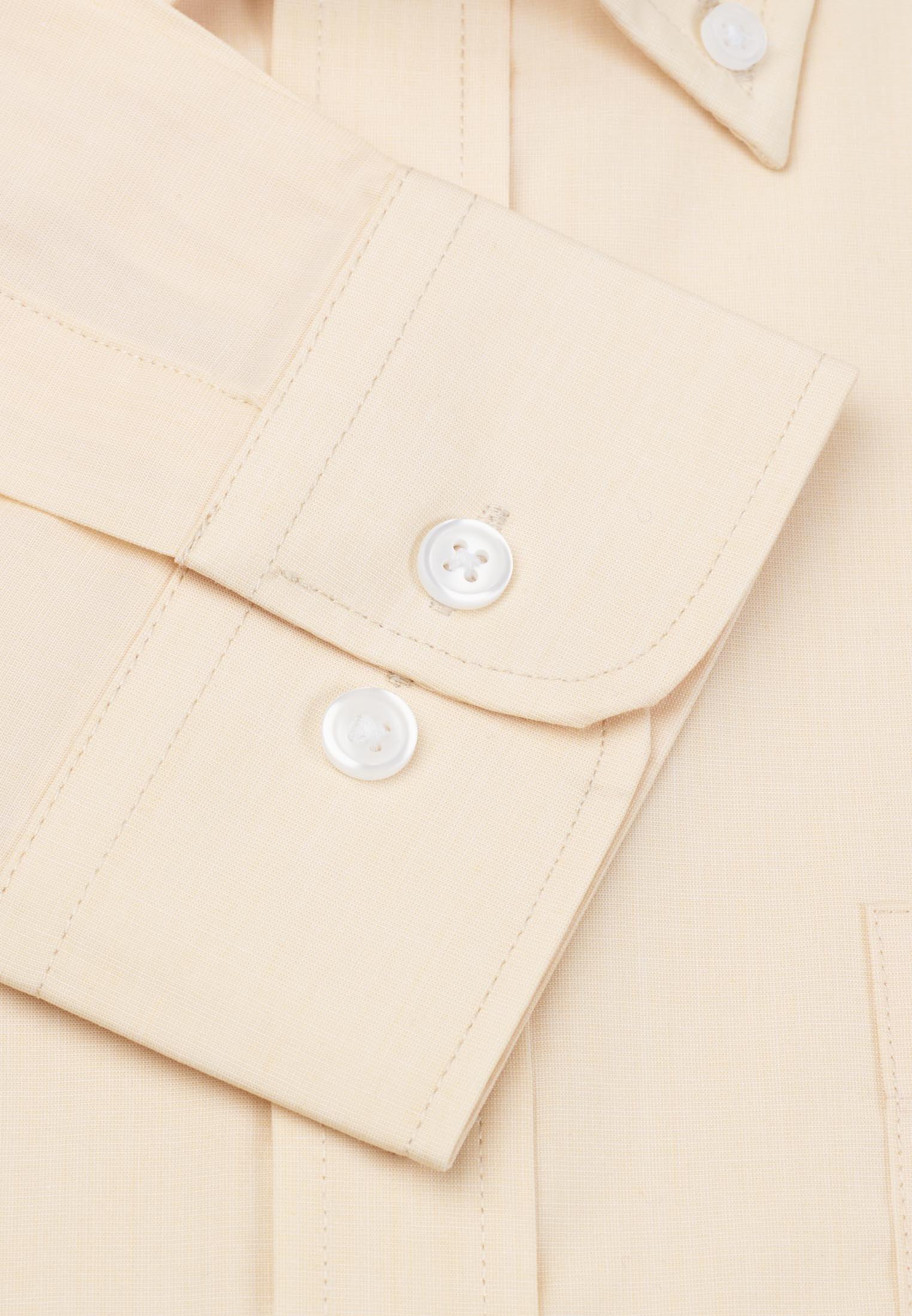 Long Sleeve Lemon End On End Button Down Collar Shirt