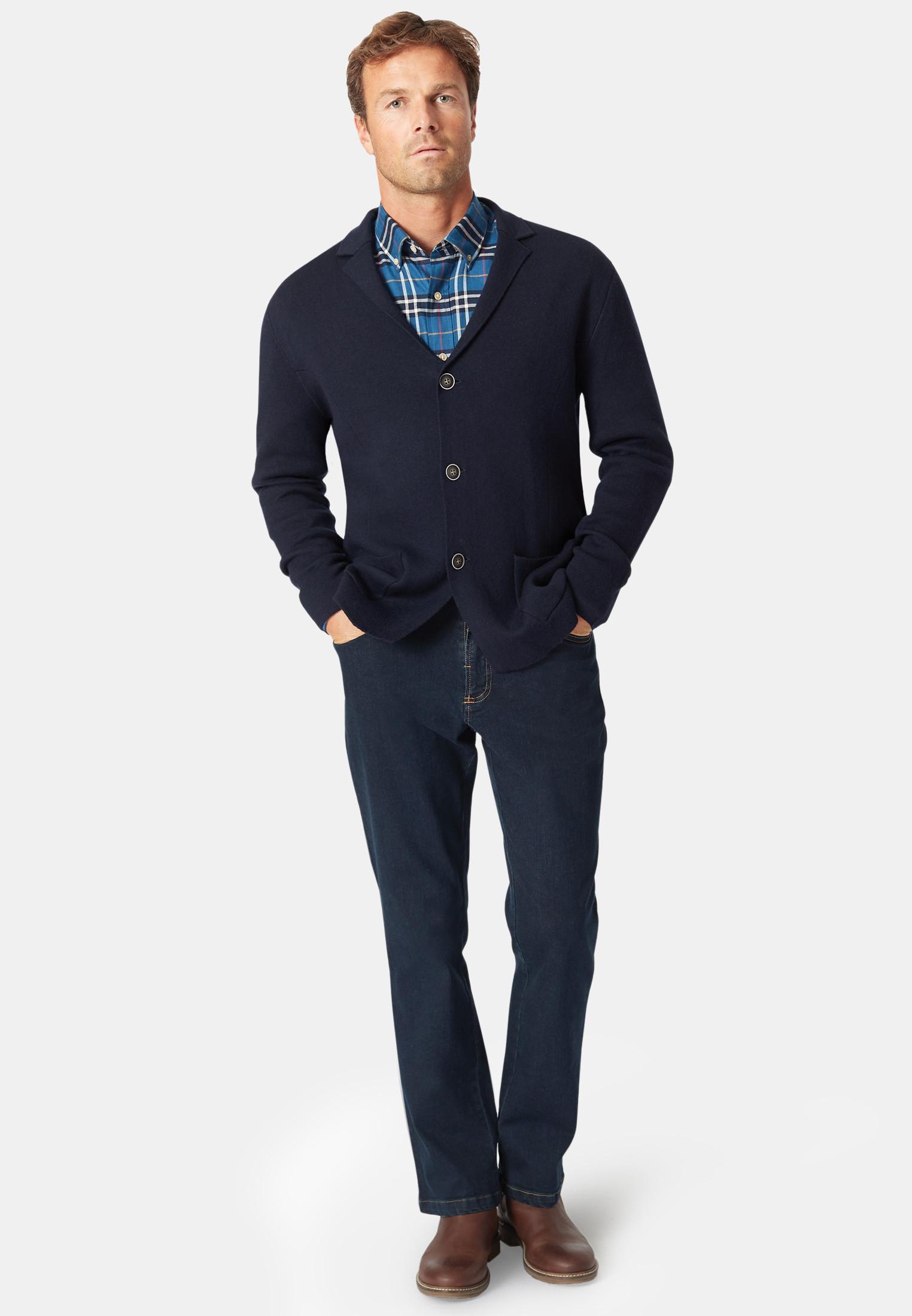 Shanklin 12 Gauge Lapel Collar Button Through Cardigan
