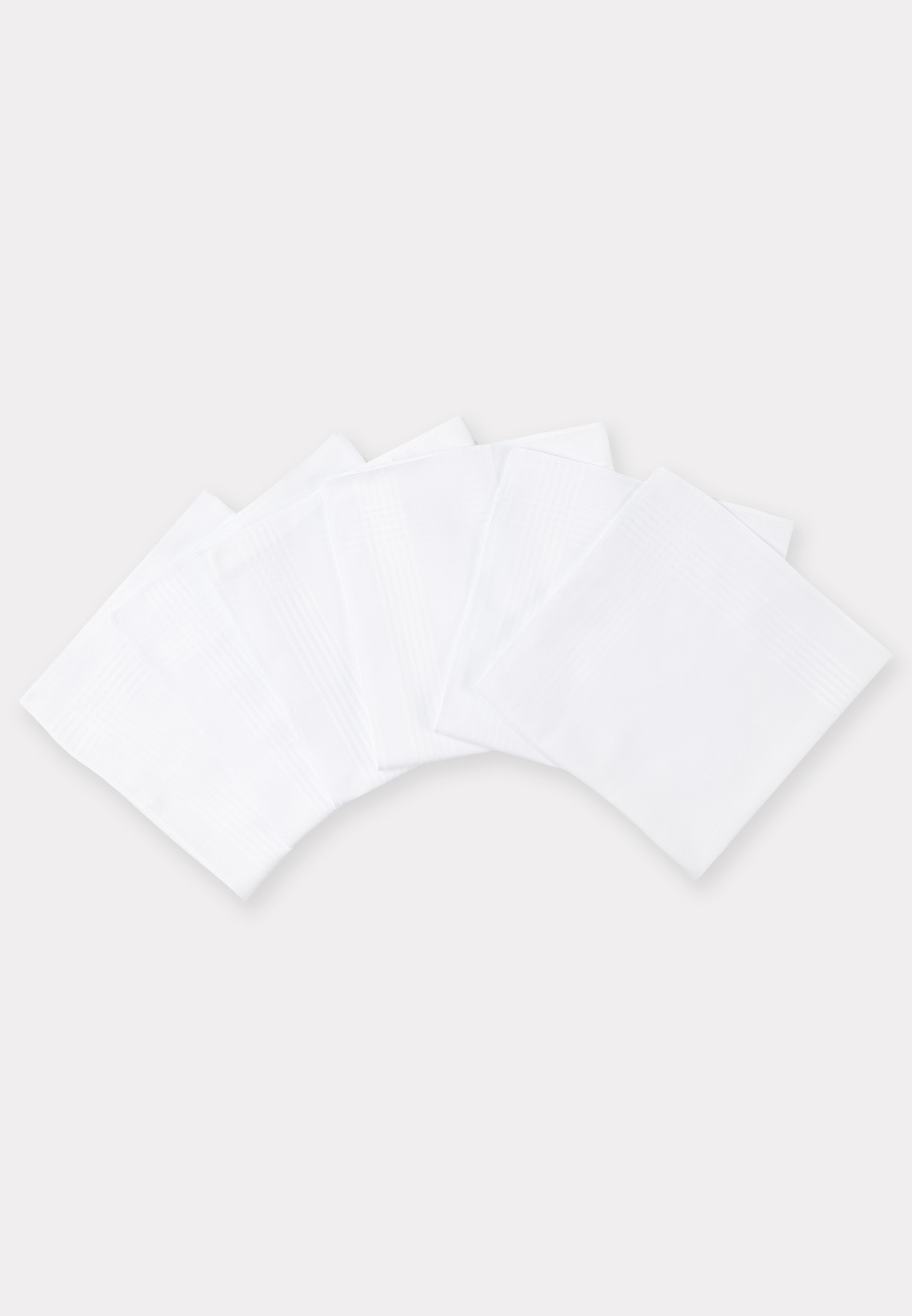 Luxury Cotton Handkerchief - Presentation Pack of Six