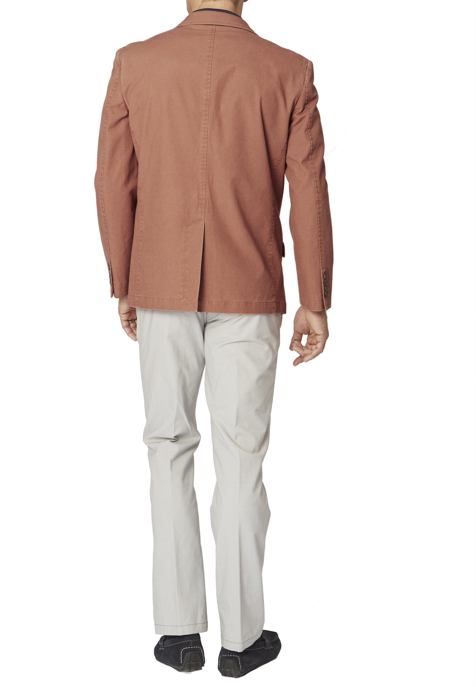 Thomas Classic Fit Coral Cotton Linen Jacket