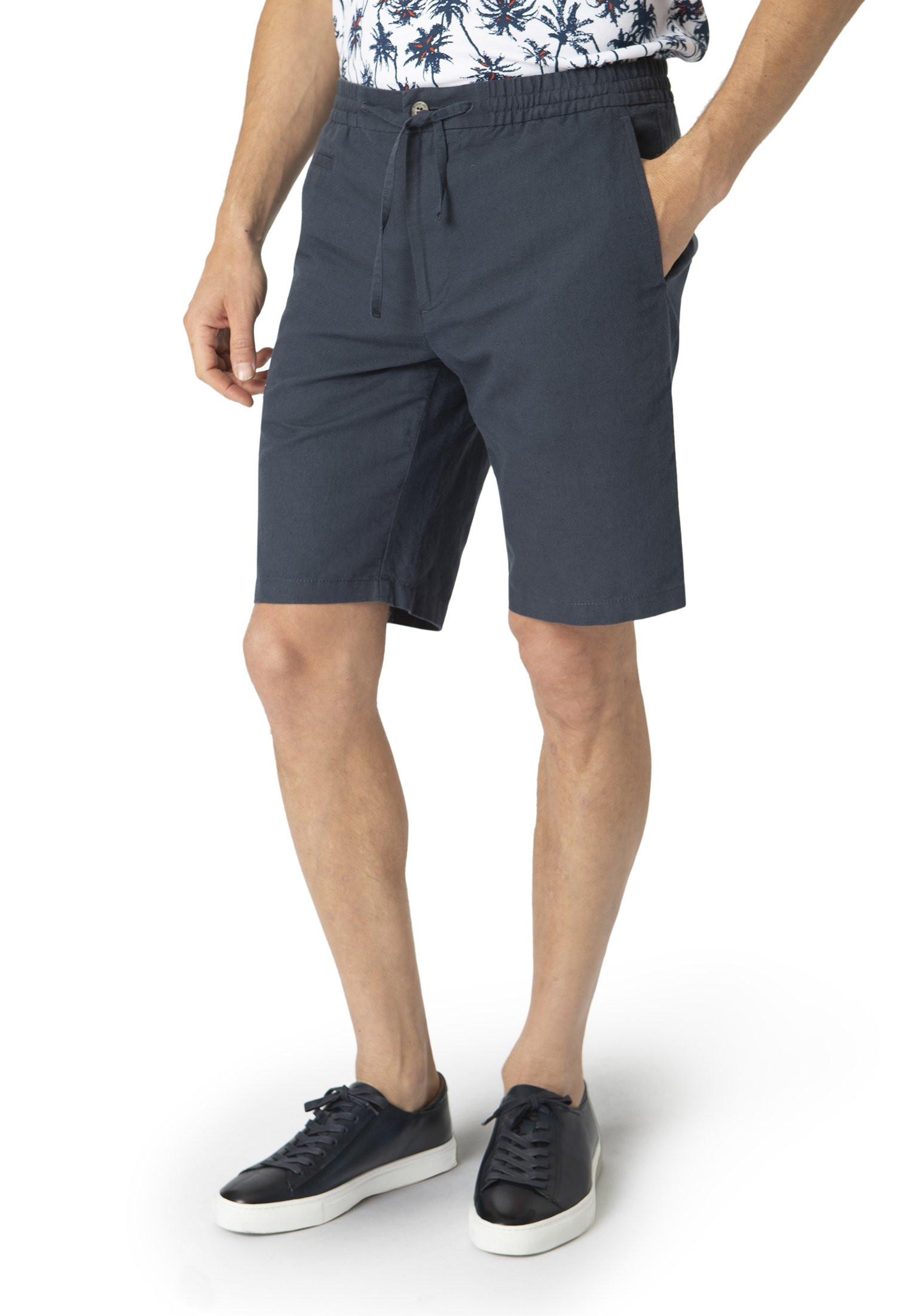 Navy Tintagel Drawcord Shorts