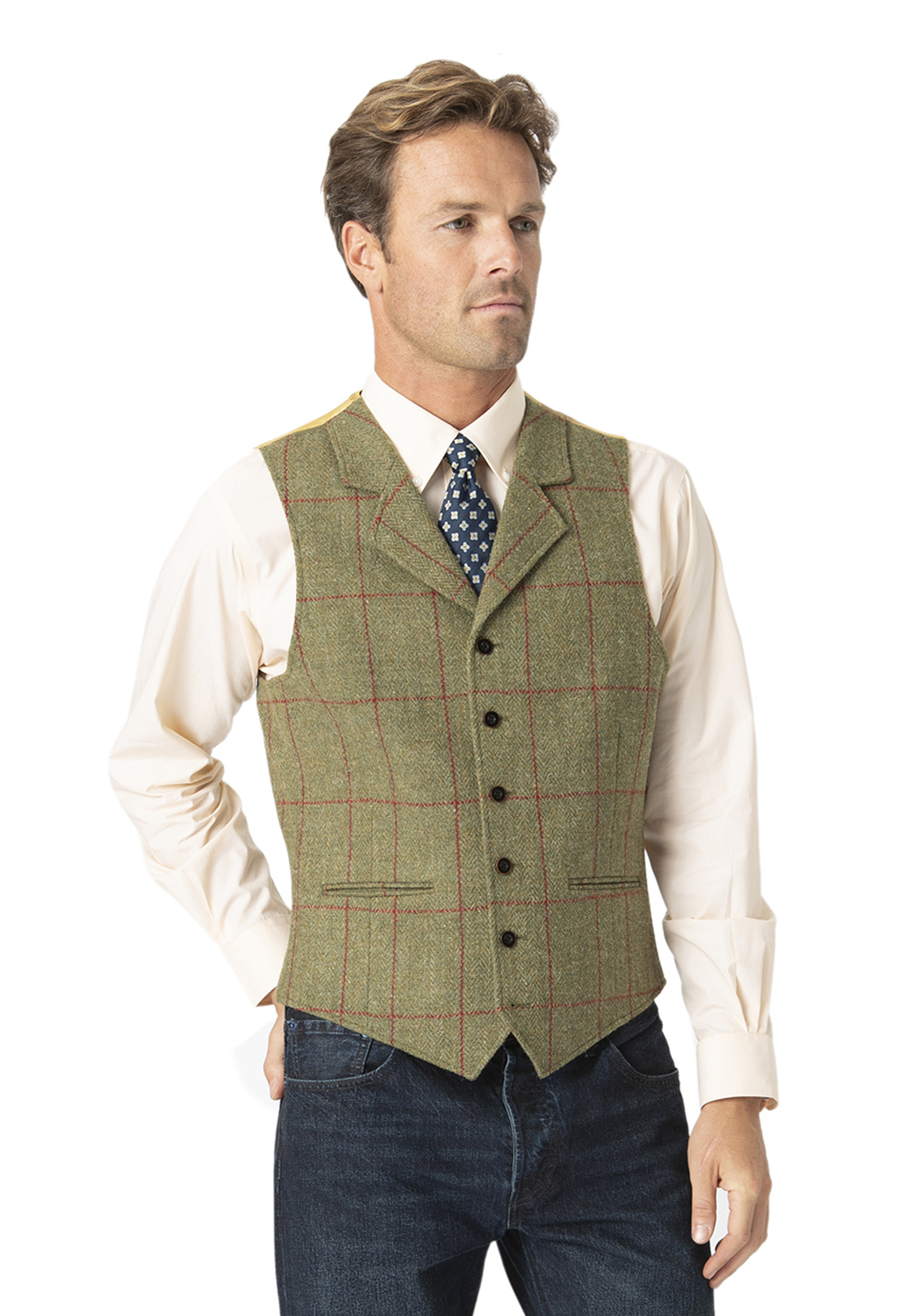 Valtos Harris Tweed Tailored Fit Jacket - Optional Waistcoat Available