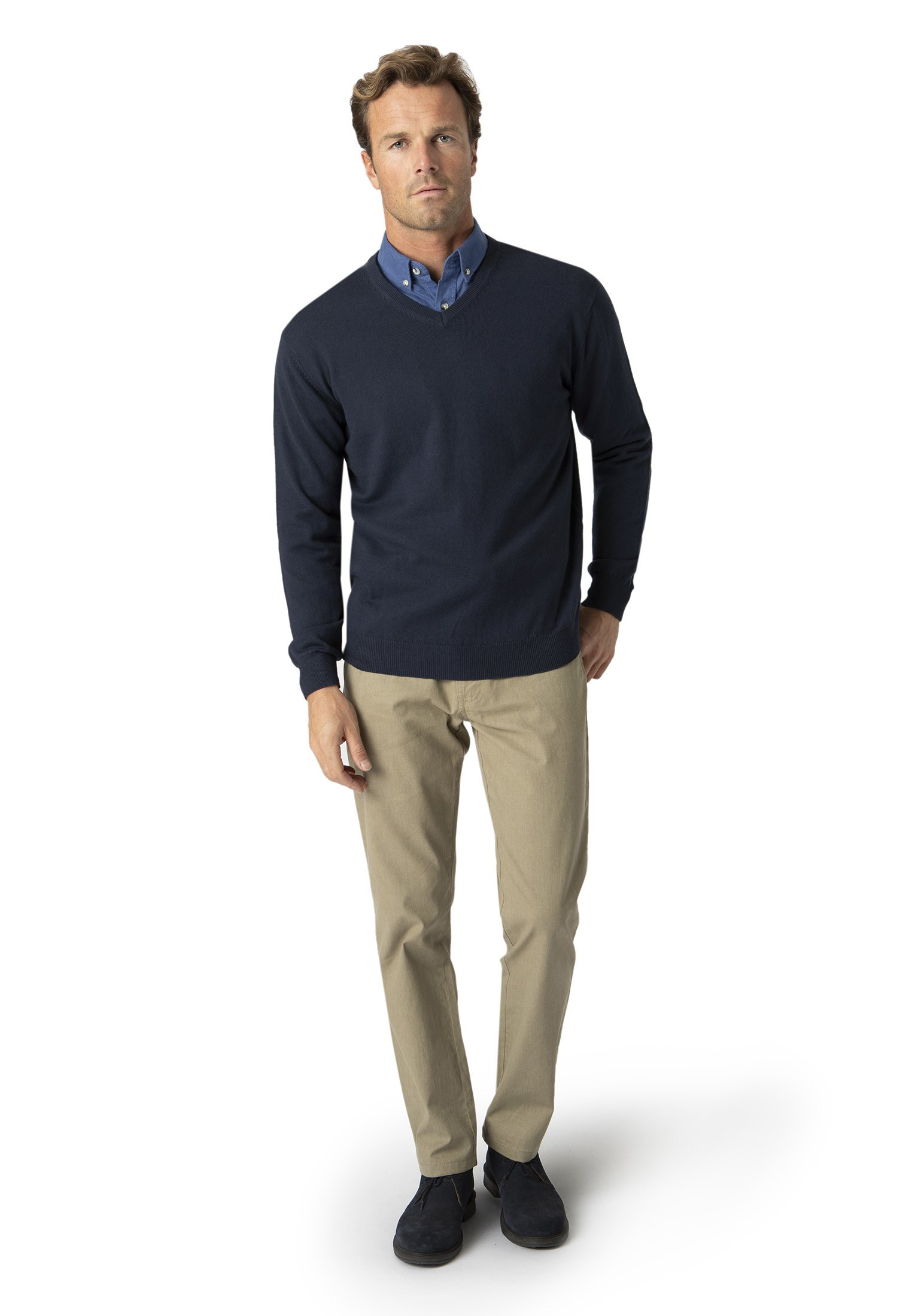 Navy Watton V-Neck