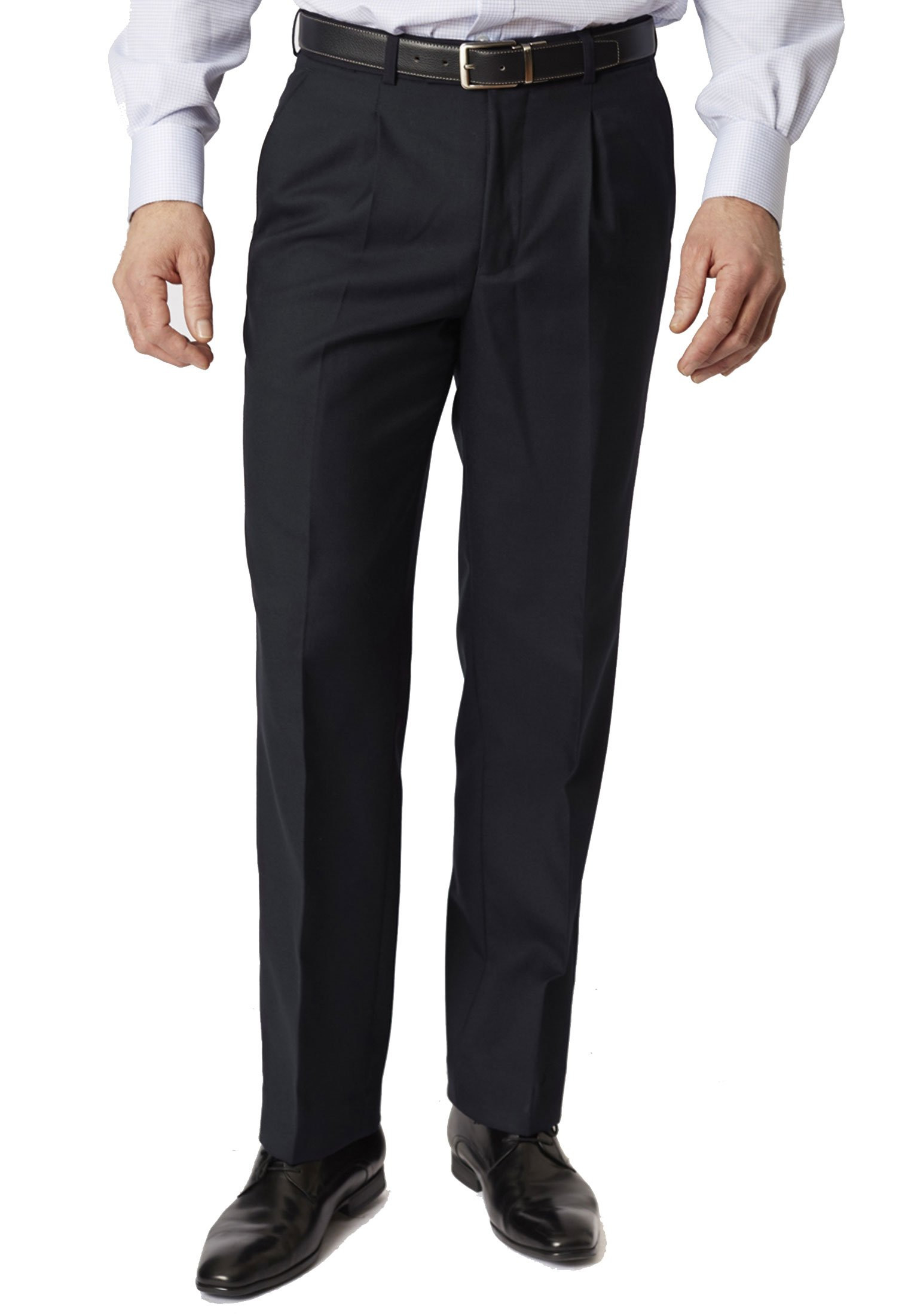 Navy Branmarket Classic Fit Wool Blend Trouser