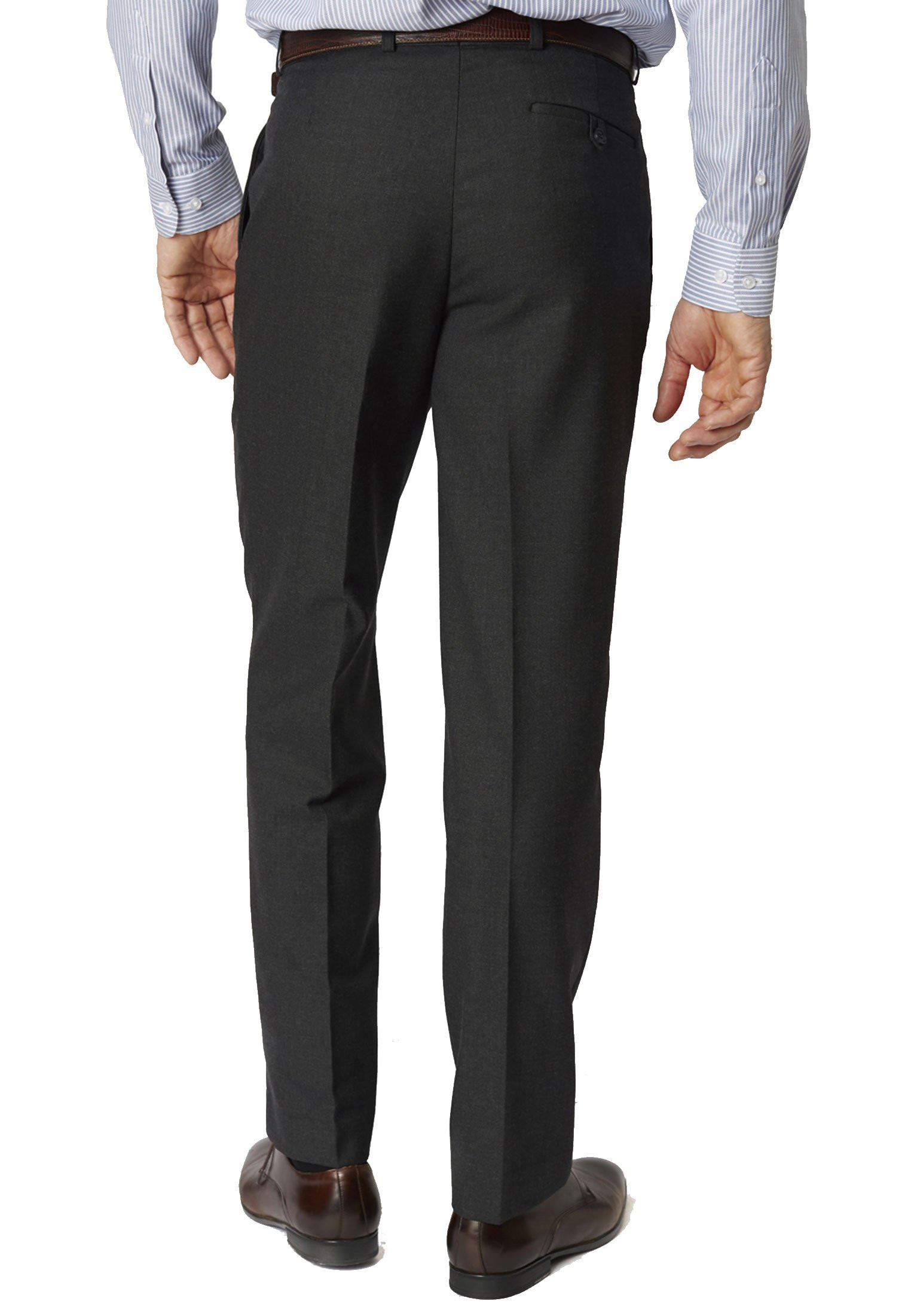 Charcoal Branmarket Classic Fit Wool Blend Trouser