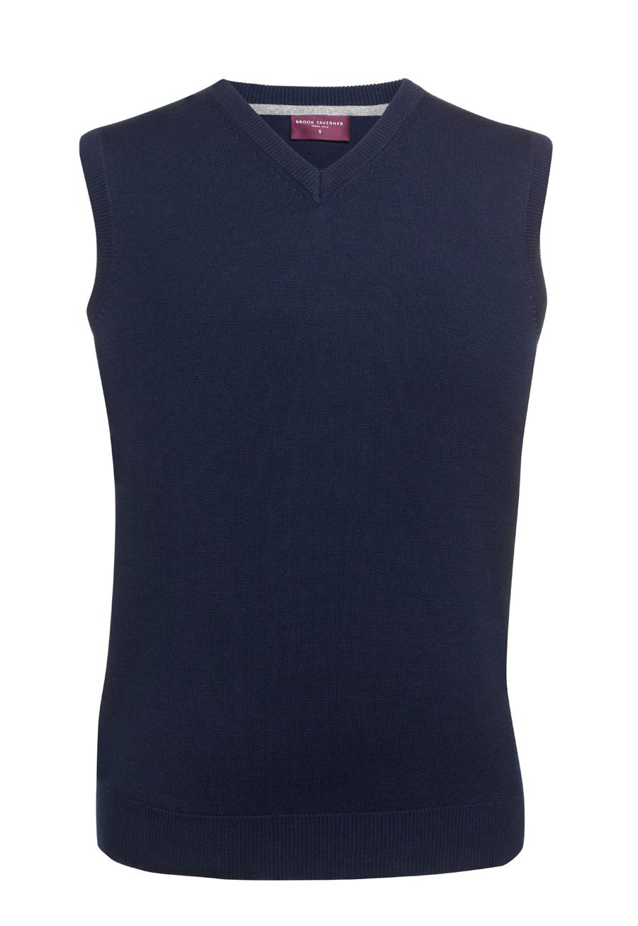 Detroit Navy V-neck Slipover
