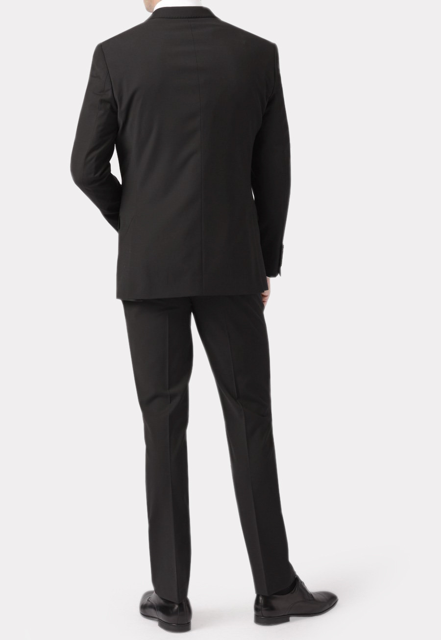 Cassino Black Tailored Fit Washable Crease Resistant Suit