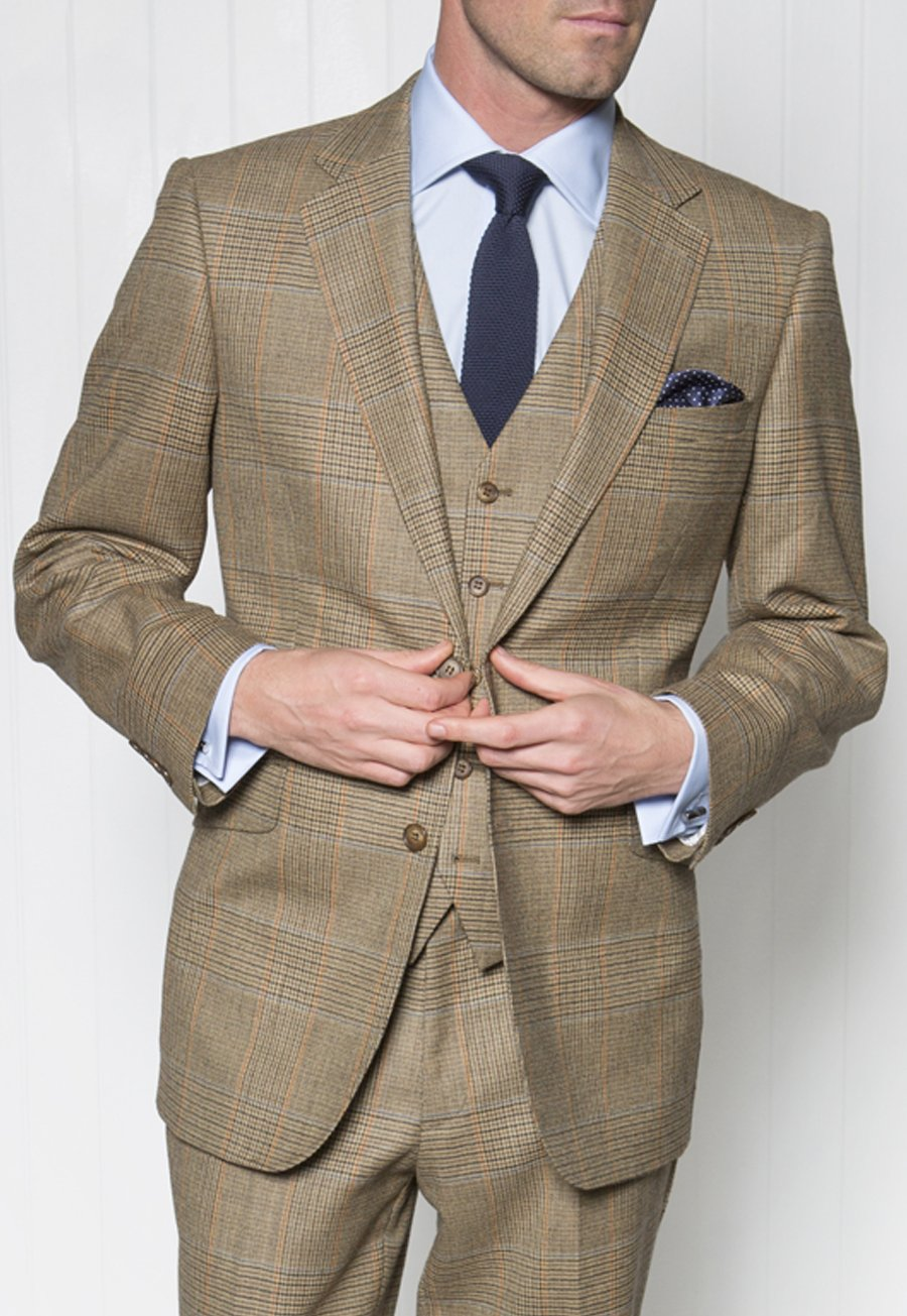 Three-Piece Dollis Summer Tweed Check Suit Jacket £260.00 AT vintagedancer.com