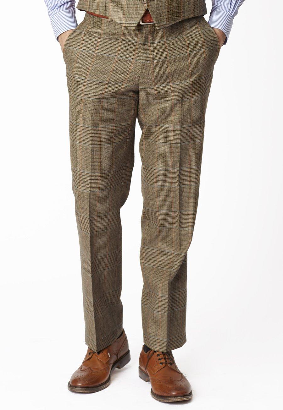 Dollis ThreePiece Summer Tweed Check Suit Trousers