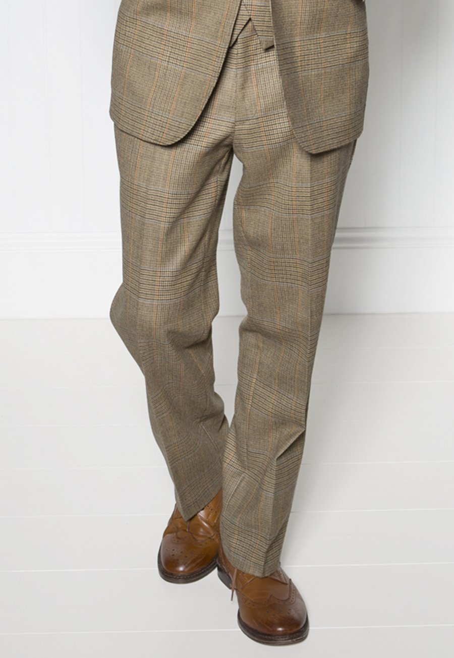 Dollis Three-Piece Summer Tweed Check Suit Trousers £140.00 AT vintagedancer.com