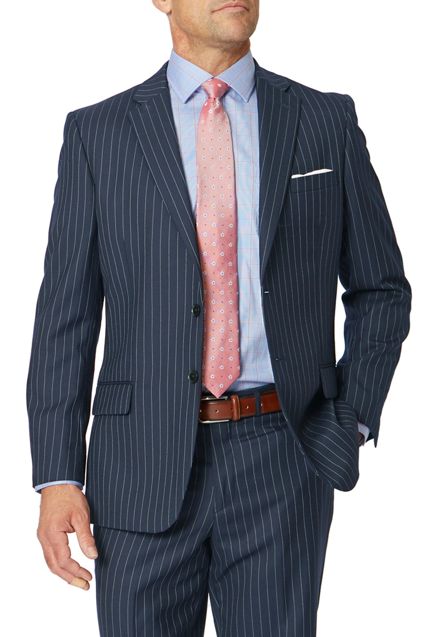 Epsom Navy Pinstripe Suit Jacket