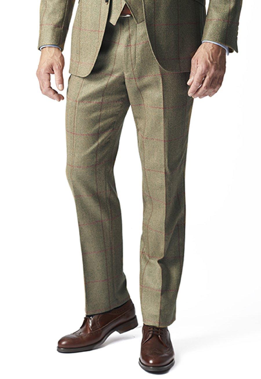 1920s Men's Pants, Trousers, Plus Fours, Knickers Hewett Three Piece Tweed Check Suit Trouser £180.00 AT vintagedancer.com