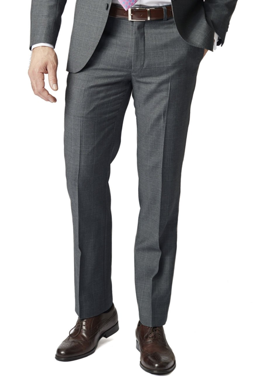 Click to view product details and reviews for Grey Miller Tailored Fit 'yorkshire' Pure New Wool Check Suit Trouser.