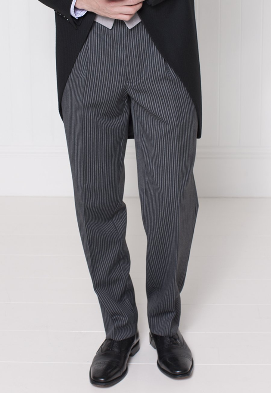 Classic Single Pleat Morning Suit Striped Trouser £100.00 AT vintagedancer.com
