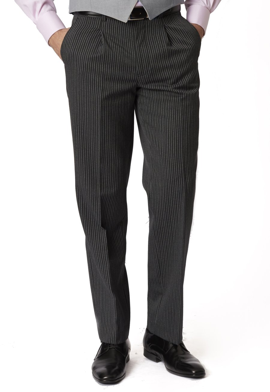 Edwardian Men's Formal Wear Morning Suit Striped Trouser £120.00 AT vintagedancer.com