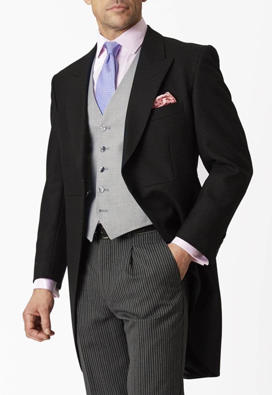 Roaring Twenties Themed Clothing Classic Pure New Wool Morning Suit Jacket £400.00 AT vintagedancer.com