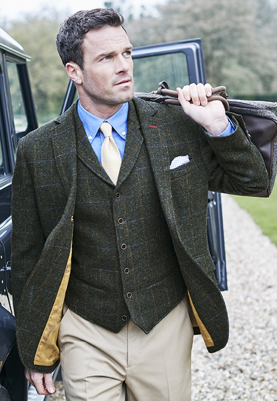 1920s Mens Suits | Gatsby, Gangster, Peaky Blinders Scarp Harris Tweed Jacket £460.00 AT vintagedancer.com
